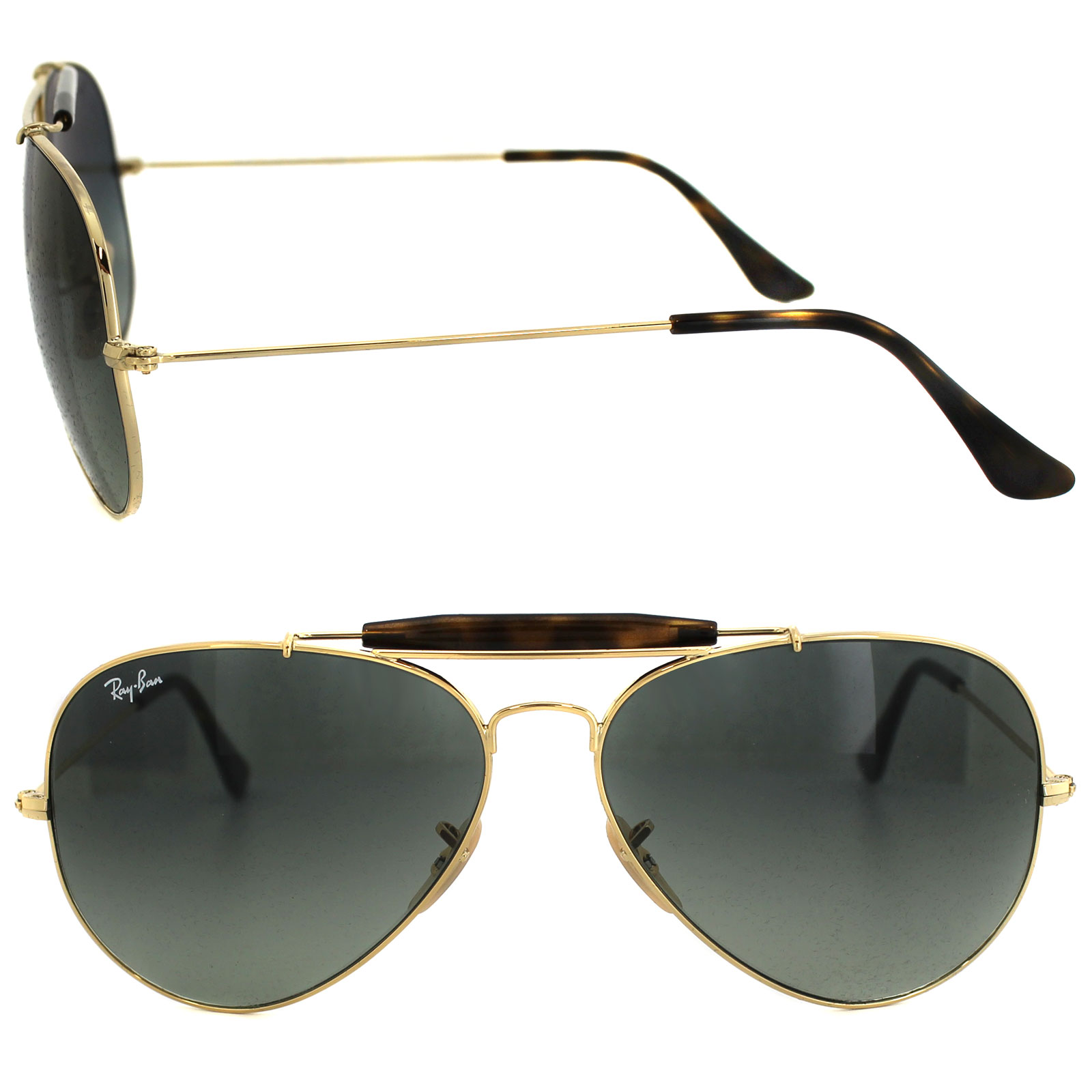 ca7ef10435 Sentinel Ray-Ban Sunglasses Outdoorsman Havana 3029 181 71 Gold   Havana  Grey Gradient