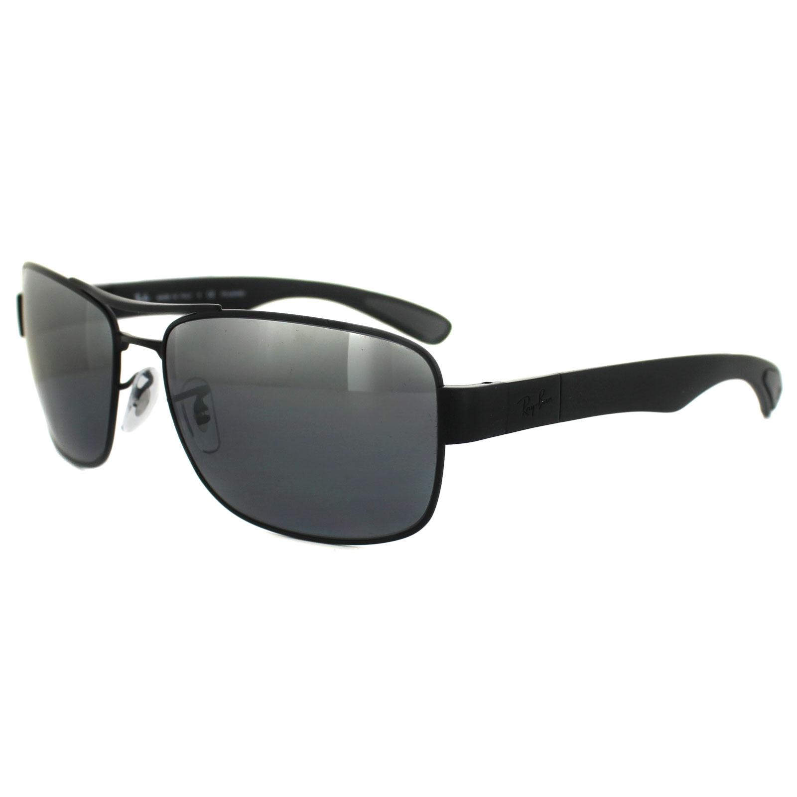 1d3ffbdb6c4 Sentinel Ray-Ban Sunglasses 3522 006 82 Black Silver Mirror Polarized