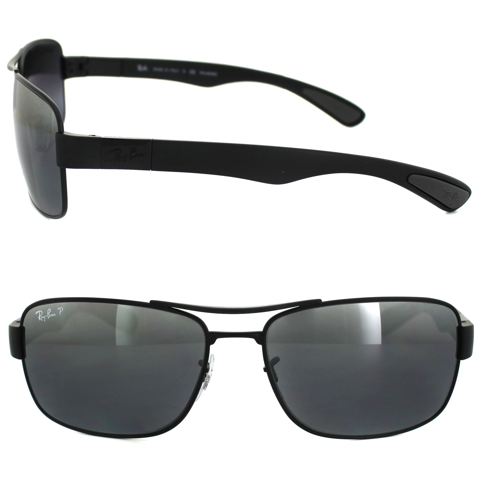 c2854af82d Sentinel Ray-Ban Sunglasses 3522 006 82 Black Silver Mirror Polarized