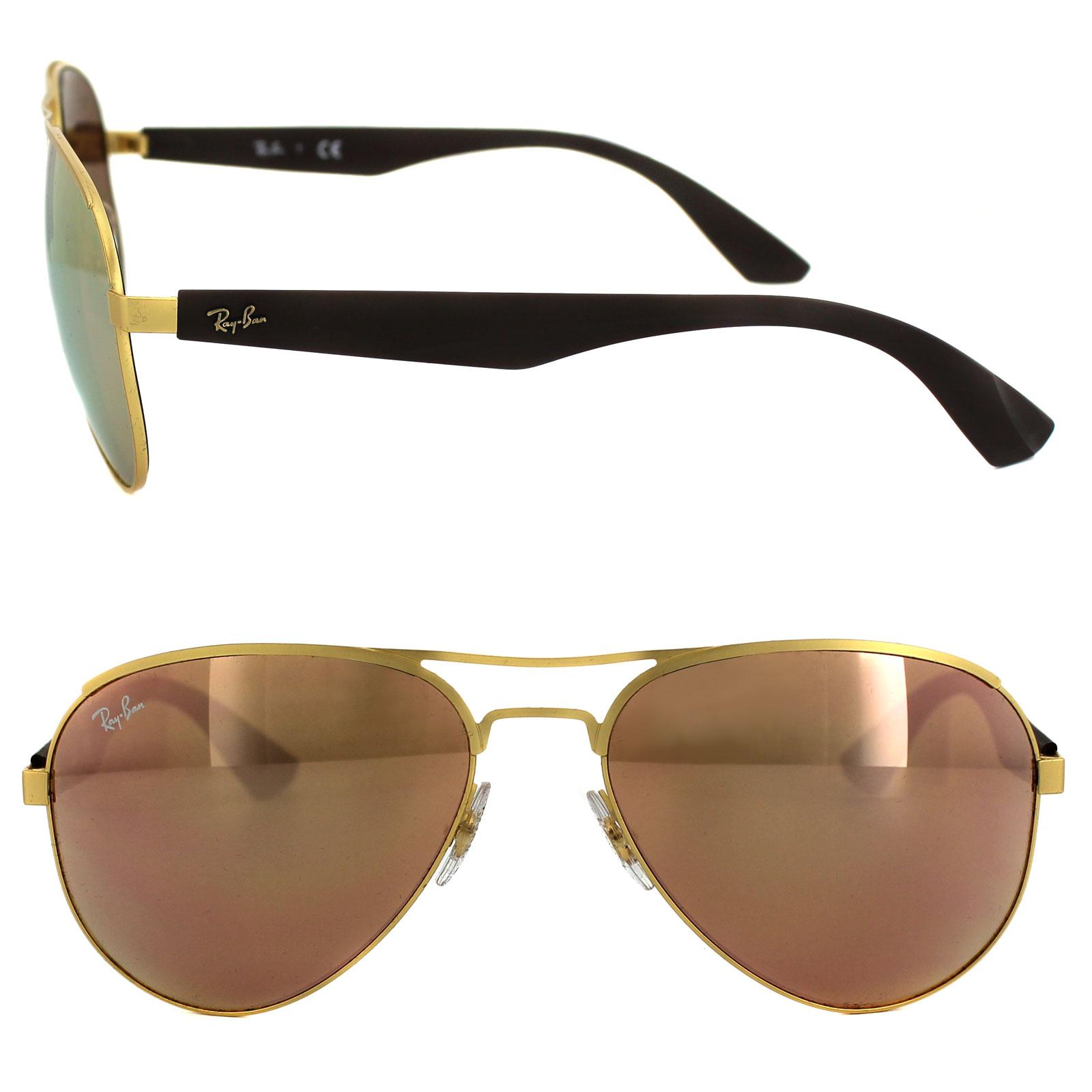 86fd47d423 Ray-Ban Sunglasses 3523 112 2Y Gold Copper Mirror 8053672508130