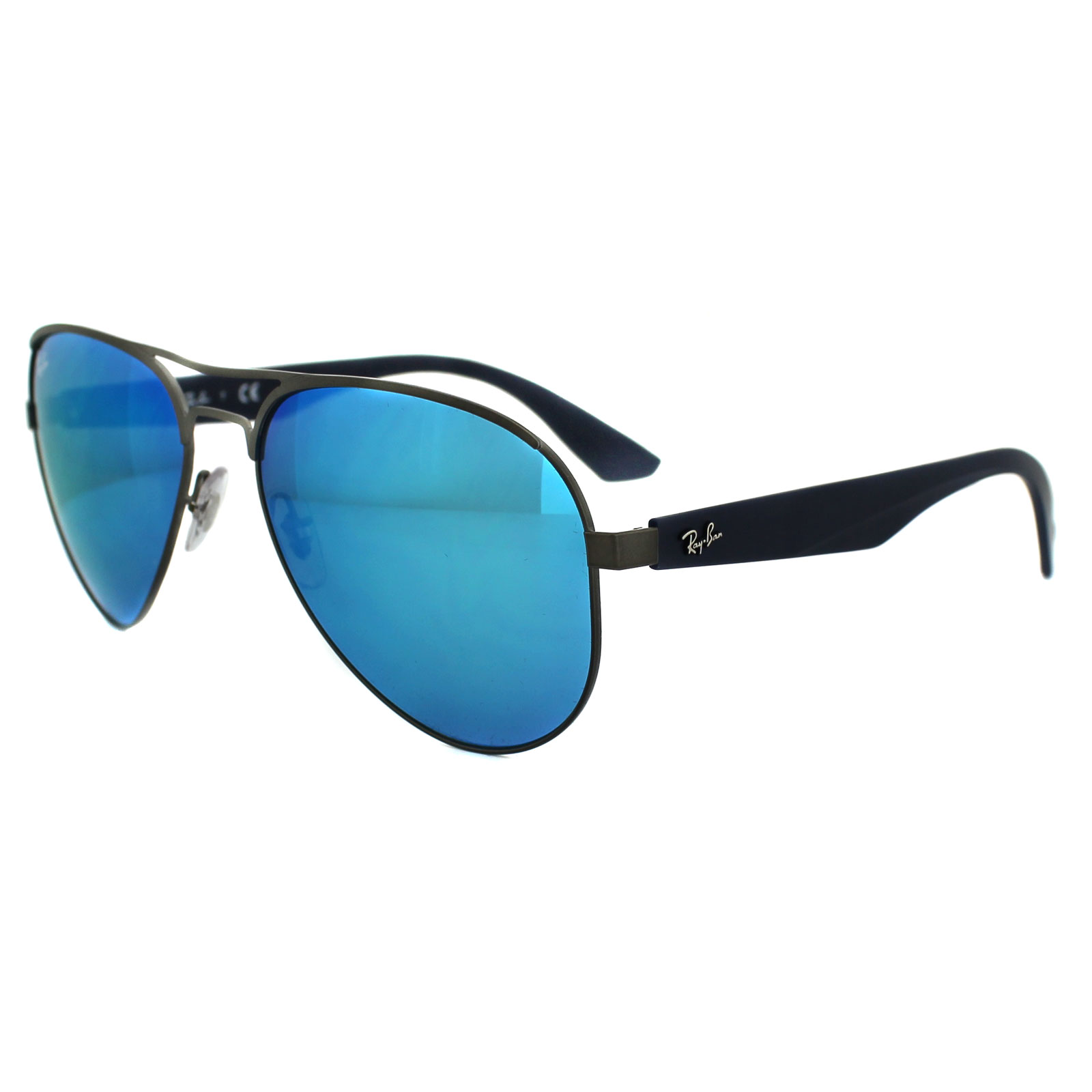 99ef23a97c ... inexpensive sentinel ray ban sunglasses 3523 029 55 gunmetal blue  mirror 2d6e2 12266