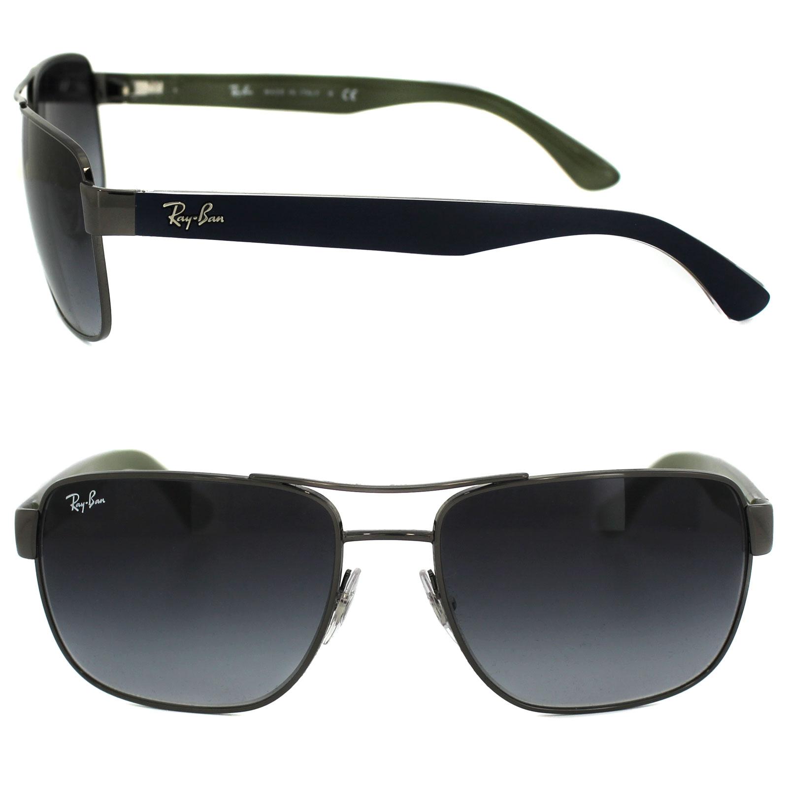 cdfec8a96b8 Sentinel Ray-Ban Sunglasses 3530 004 8G Gunmetal   Blue Grey Gradient