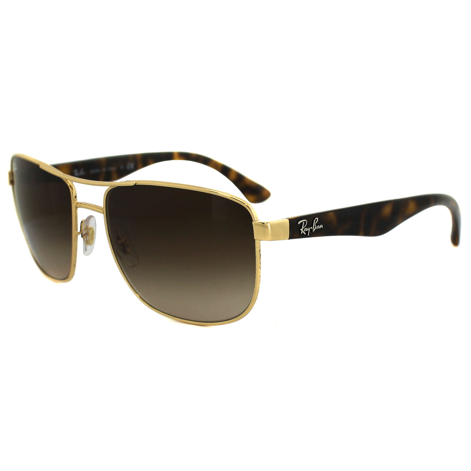 ad57181b6e Sentinel Ray-Ban Sunglasses 3533 001 13 Gold Tortoise Brown Gradient