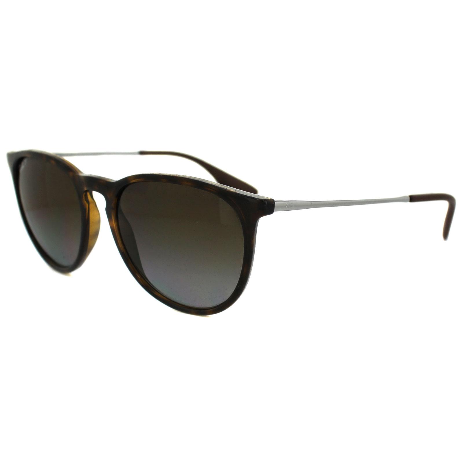 6fe0d51815d2 Sentinel Ray-Ban Sunglasses Erika 4171 710 T5 Tortoise Gunmetal Brown  Gradient Polarized