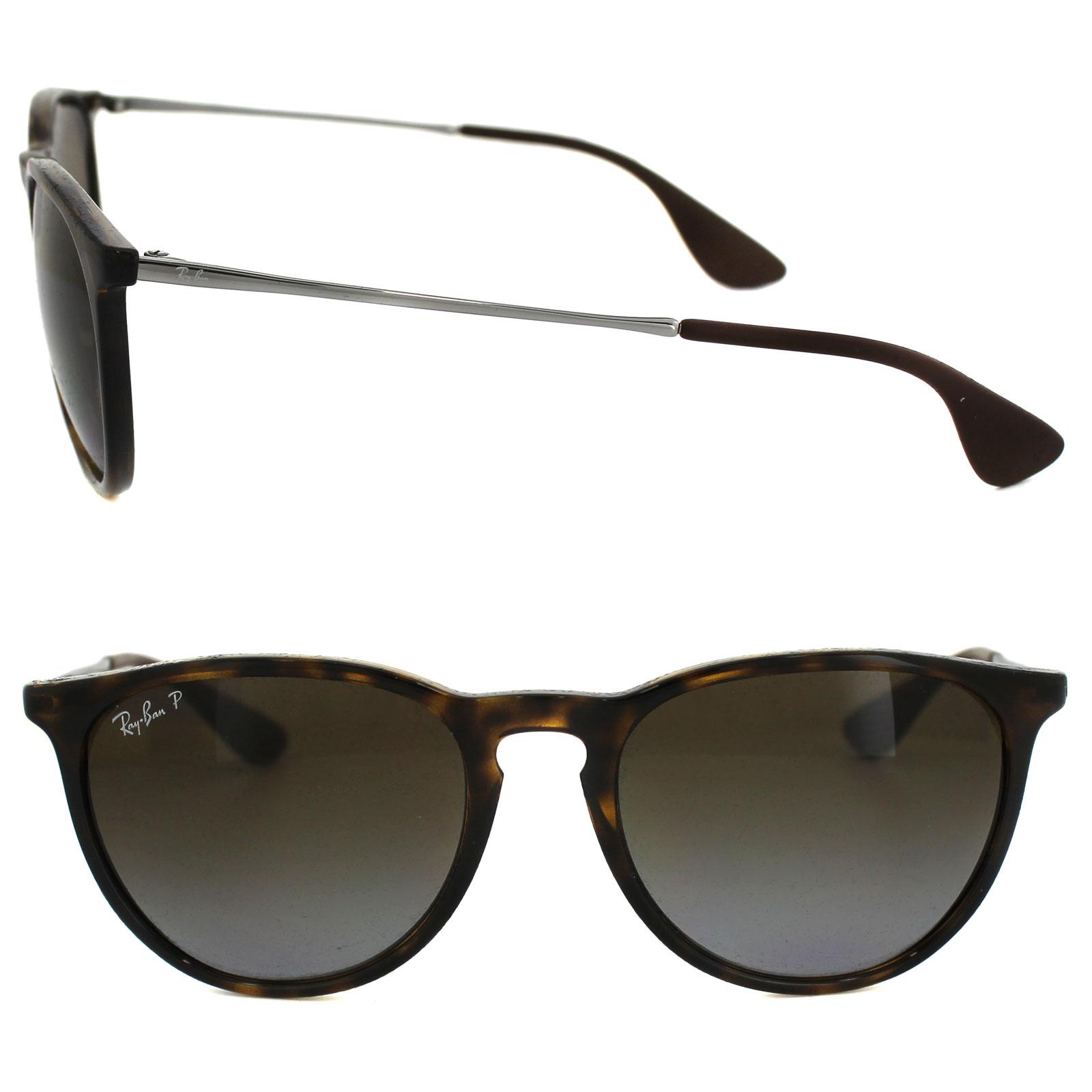4621ae89f3257 Sentinel Ray-Ban Sunglasses Erika 4171 710 T5 Tortoise Gunmetal Brown  Gradient Polarized