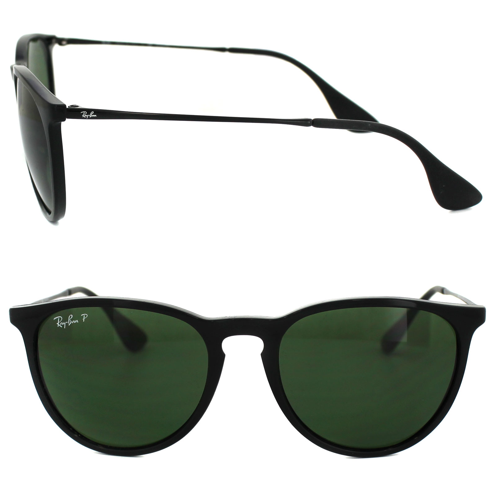 6ad4dce009 Sentinel Ray-Ban Sunglasses Erika 4171 601 2P Black Green Polarized
