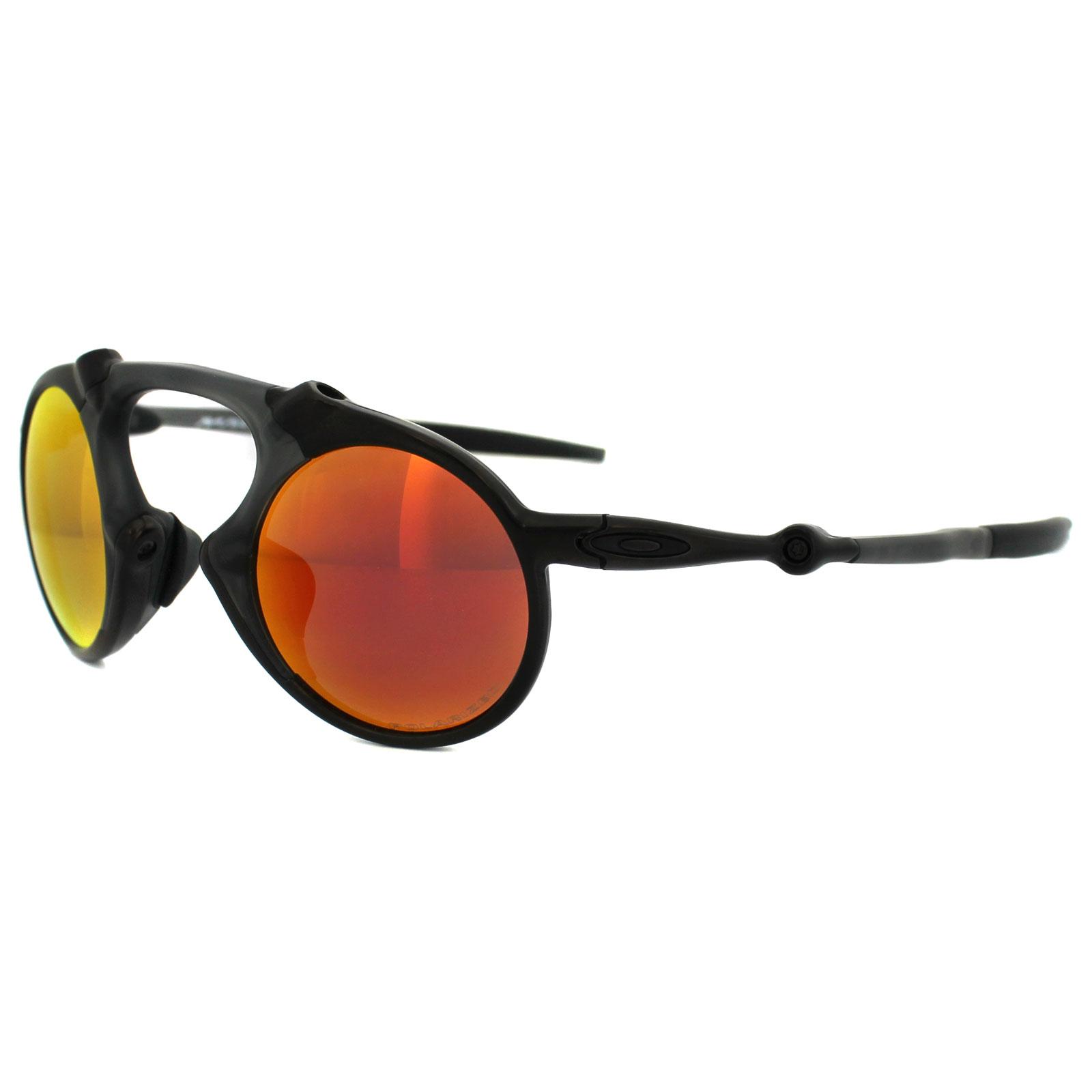 f31d65ba31 Sentinel Oakley Sunglasses Madman OO6019-04 Dark Carbon Ruby Iridium  Polarized