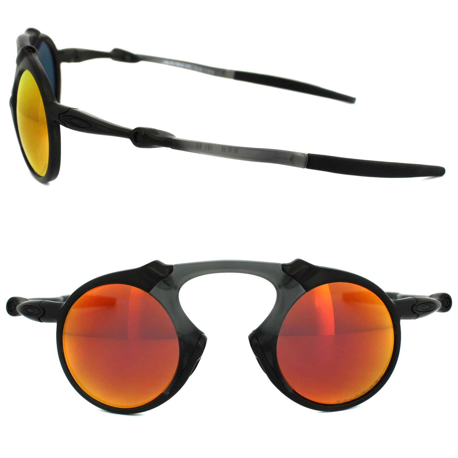 cc7bb6dd2e Sentinel Oakley Sunglasses Madman OO6019-04 Dark Carbon Ruby Iridium  Polarized