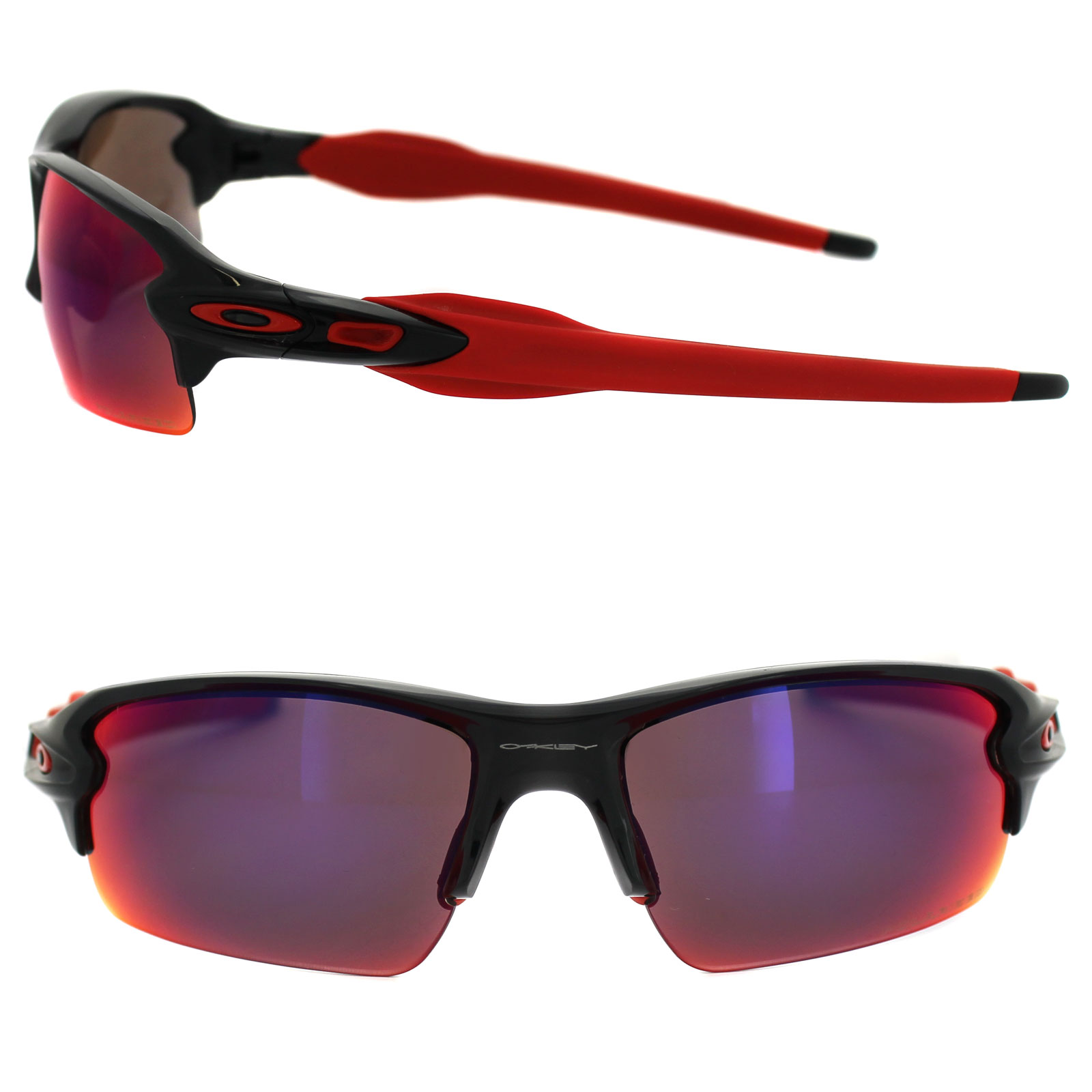 ea71210ea5b Sentinel Oakley Sunglasses Flak 2.0 OO9295-08 Black Ink OO Red Iridium  Polarized