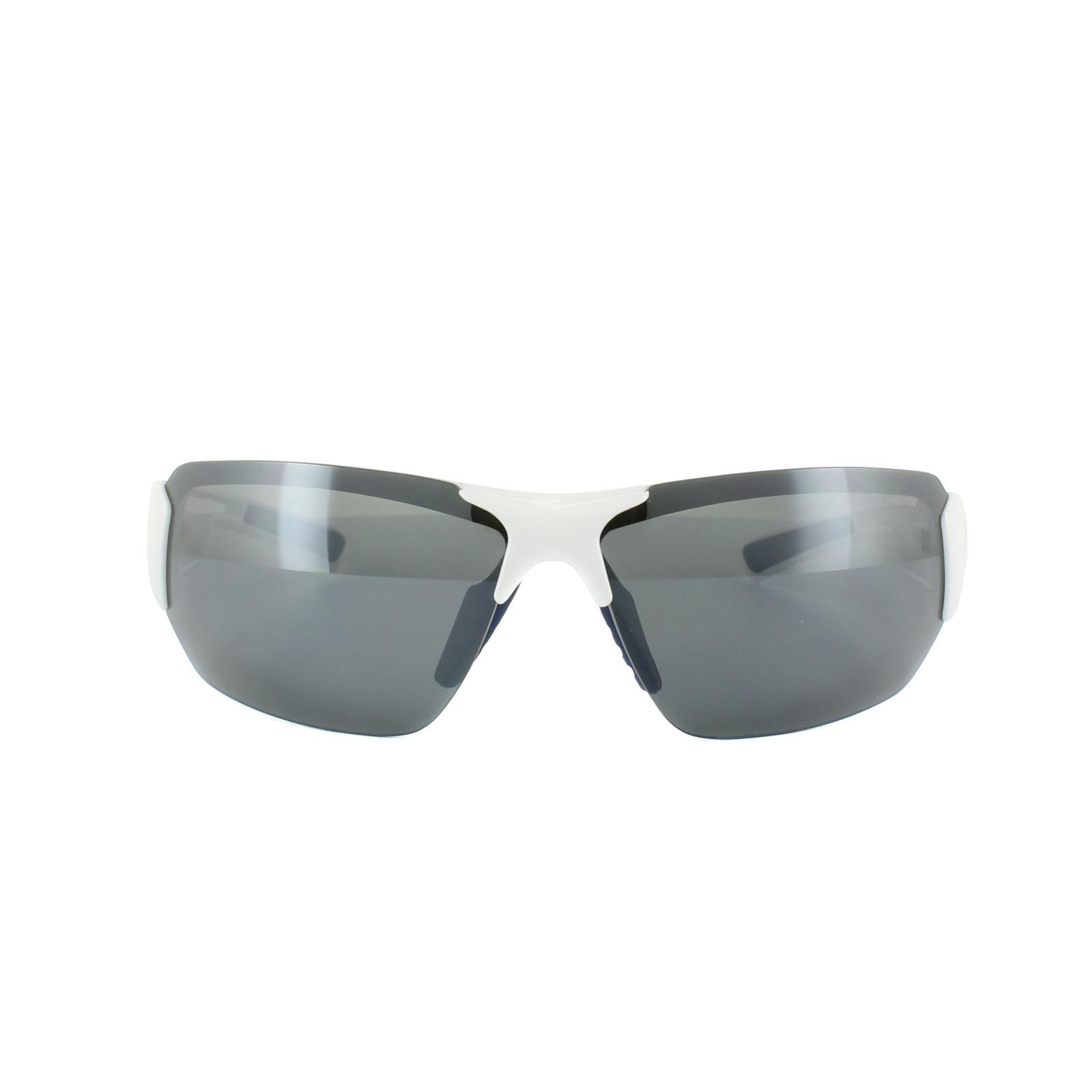 d66145a6aa Sentinel Polaroid Sport Sunglasses P7422 22J Y2 White   Blue Grey Polarized