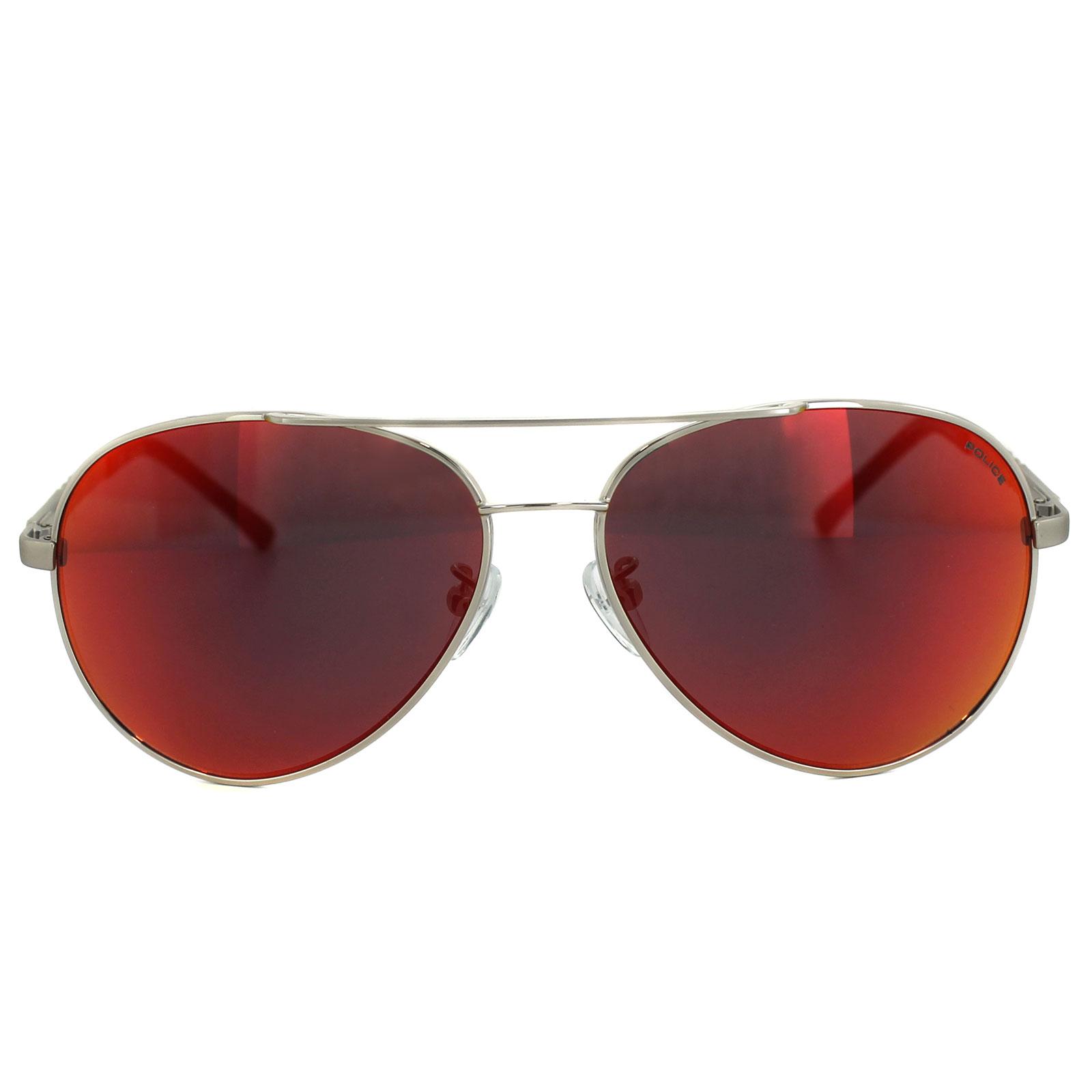 b4b30c793e Sentinel Police Sunglasses Legend 2 8746 589R Shiny Palladium Red Mirror