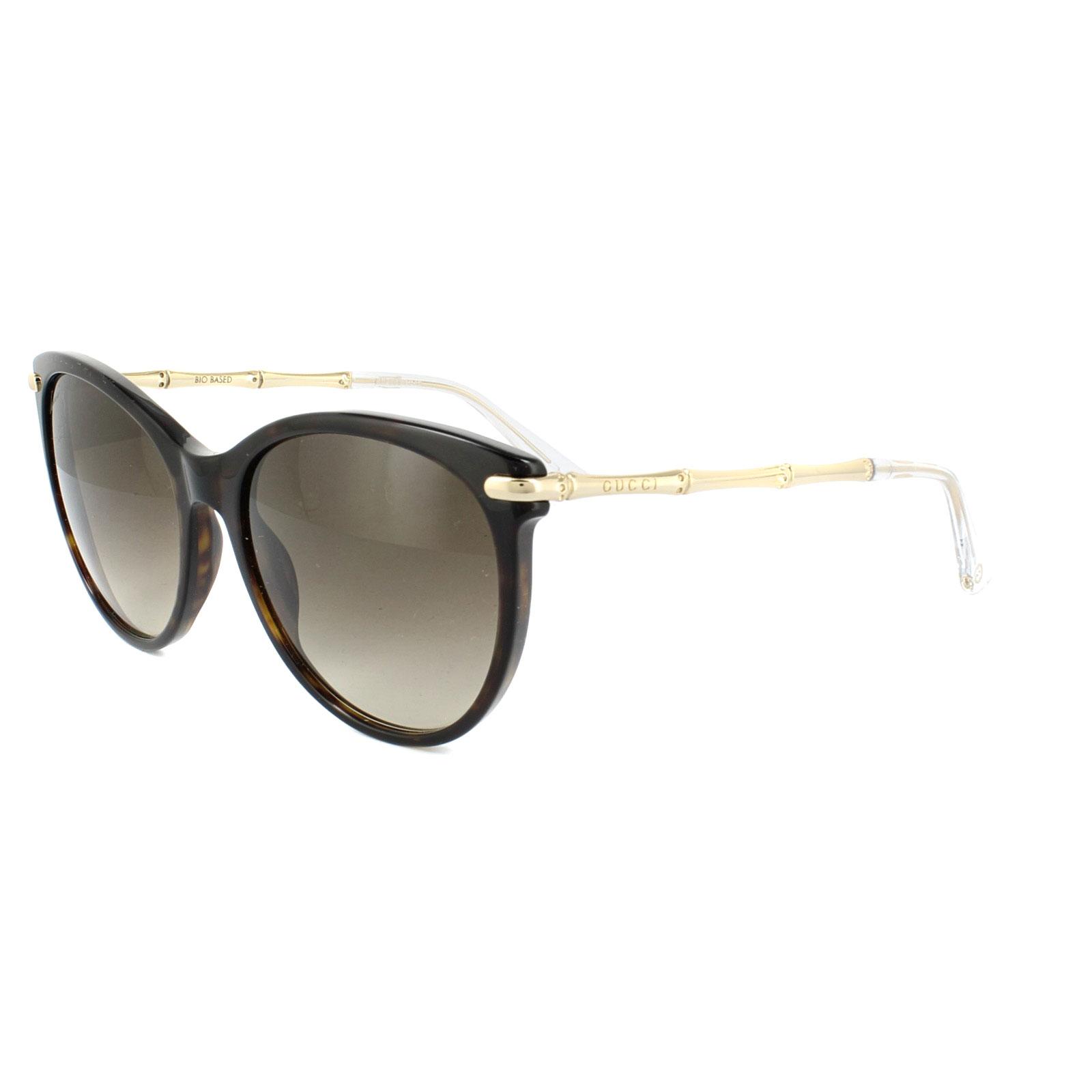 Gucci Gafas de sol 3771 lvl cc Marrón Havana & Oro Marrón Degradado ...