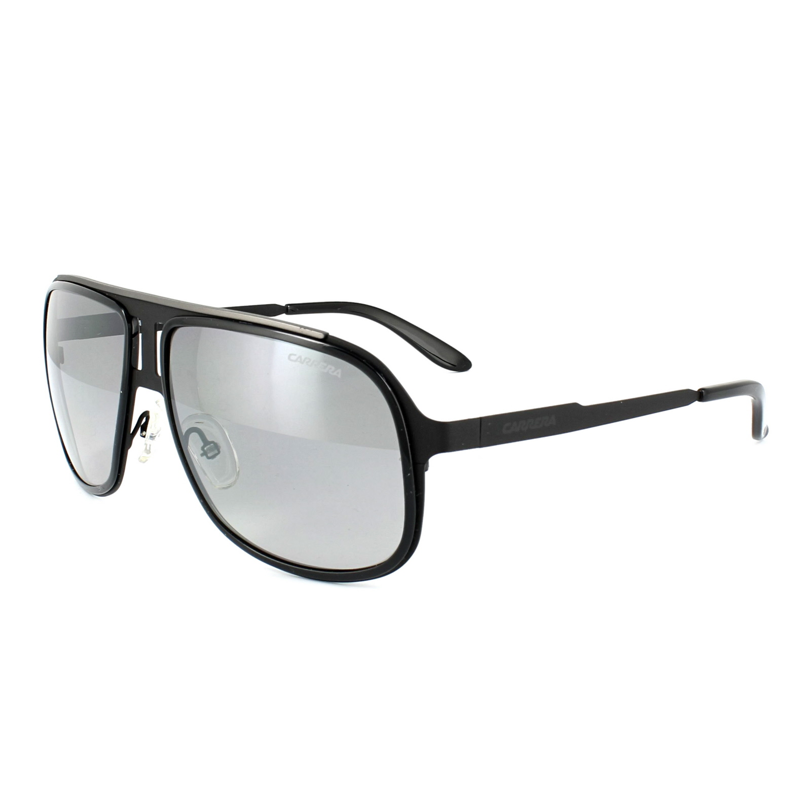 27c5519a916e8c Sentinel Carrera Sunglasses Carrera 101 HKQ IC Shiny Black   Dark Ruthenium  Grey Silver M
