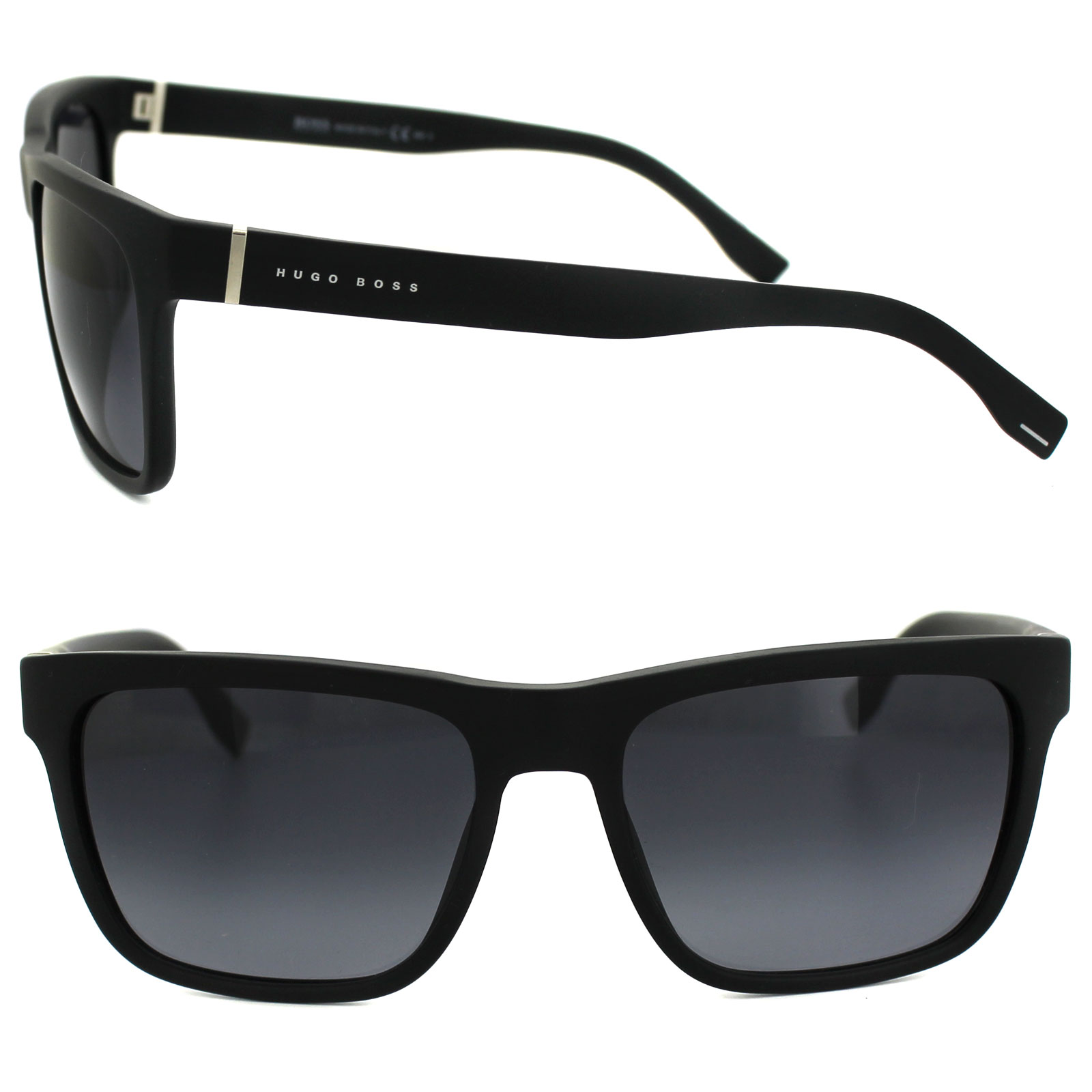 ded747d7bc9b4 Sentinel Hugo Boss Sunglasses 0727 DL5 HD Matt Black Grey Gradient