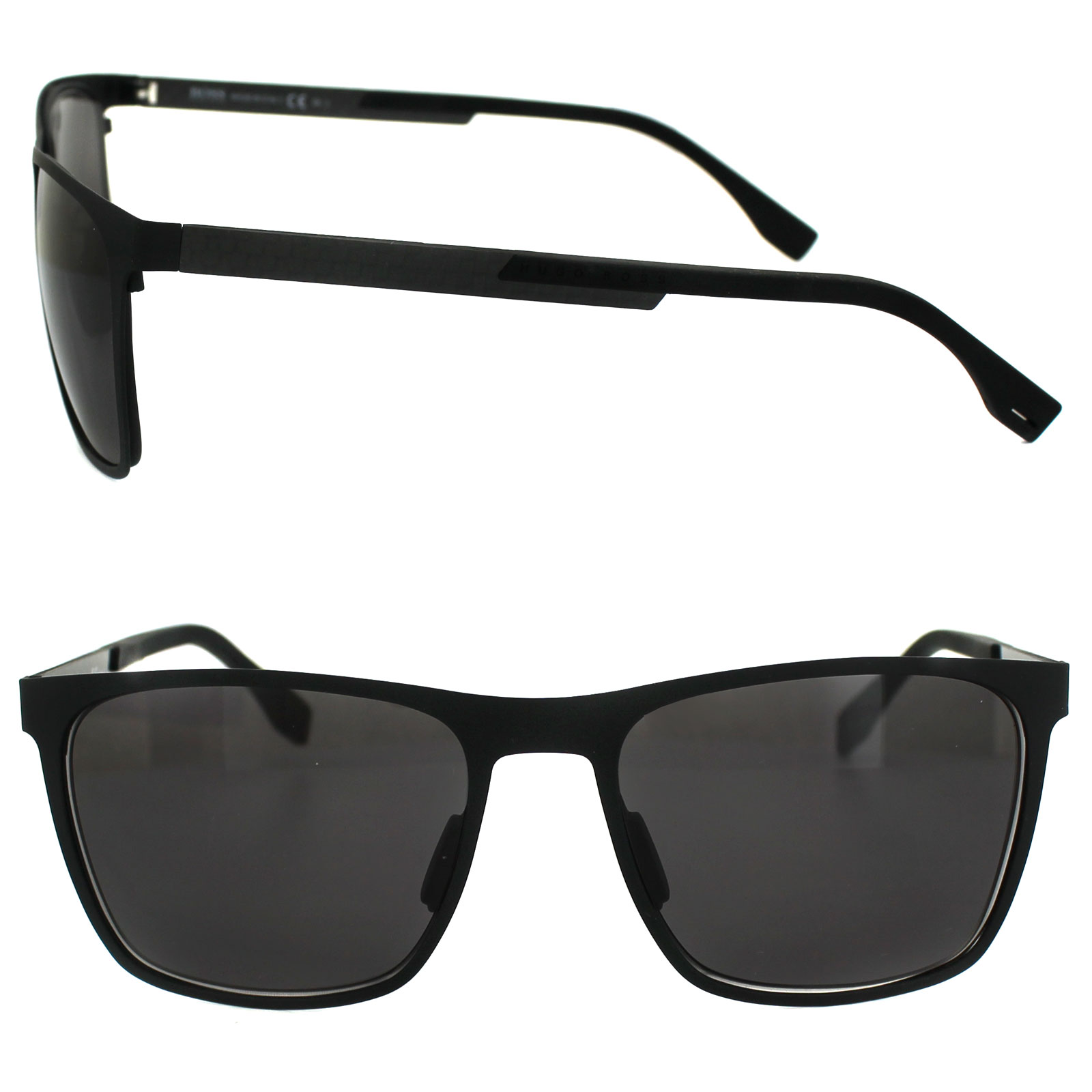 Sentinel Hugo Boss Sunglasses 0732 KCQ Y1 Matt Black Carbon Black Grey