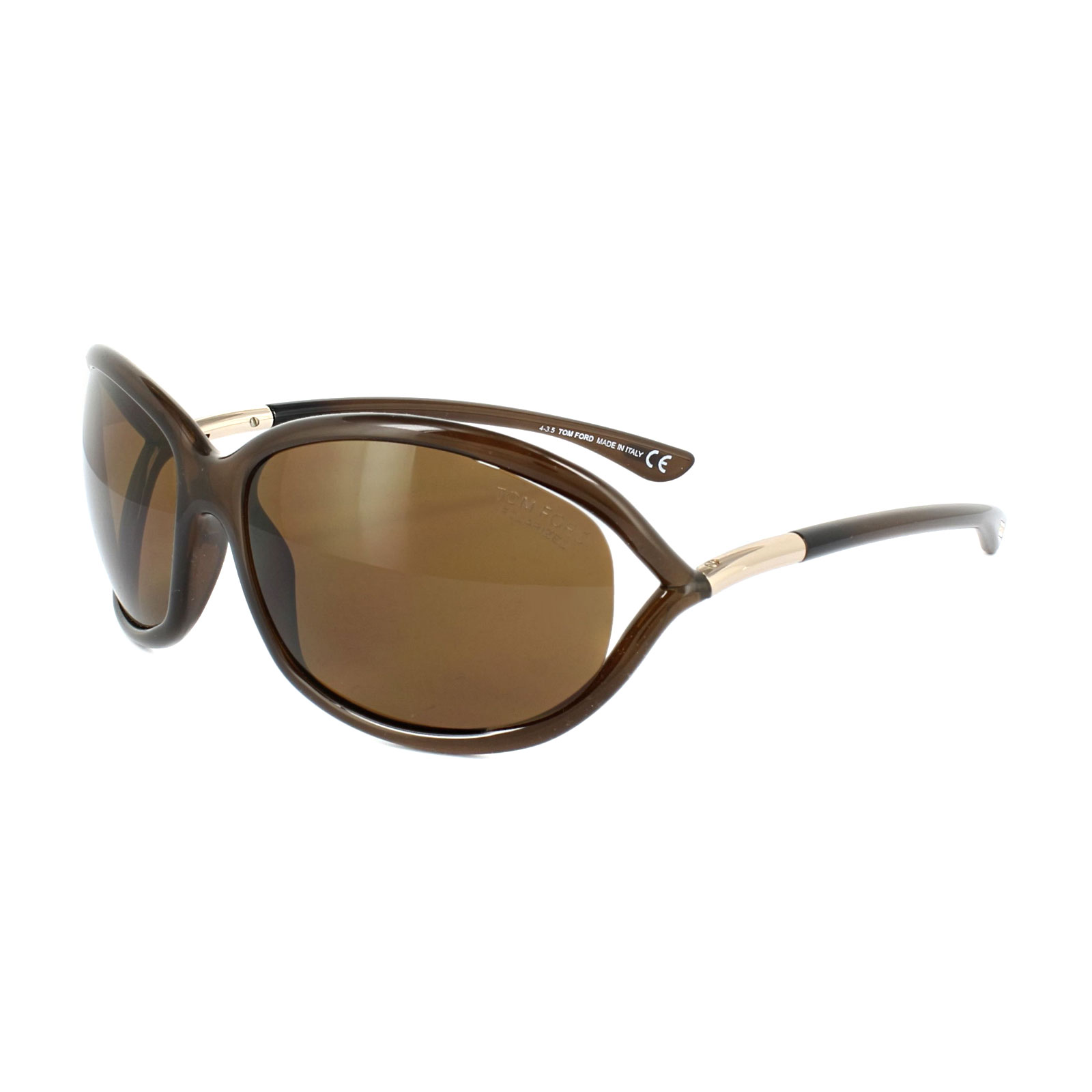 Tom Ford Damen Sonnenbrille »Jennifer FT0008«, braun, 48H - braun/braun