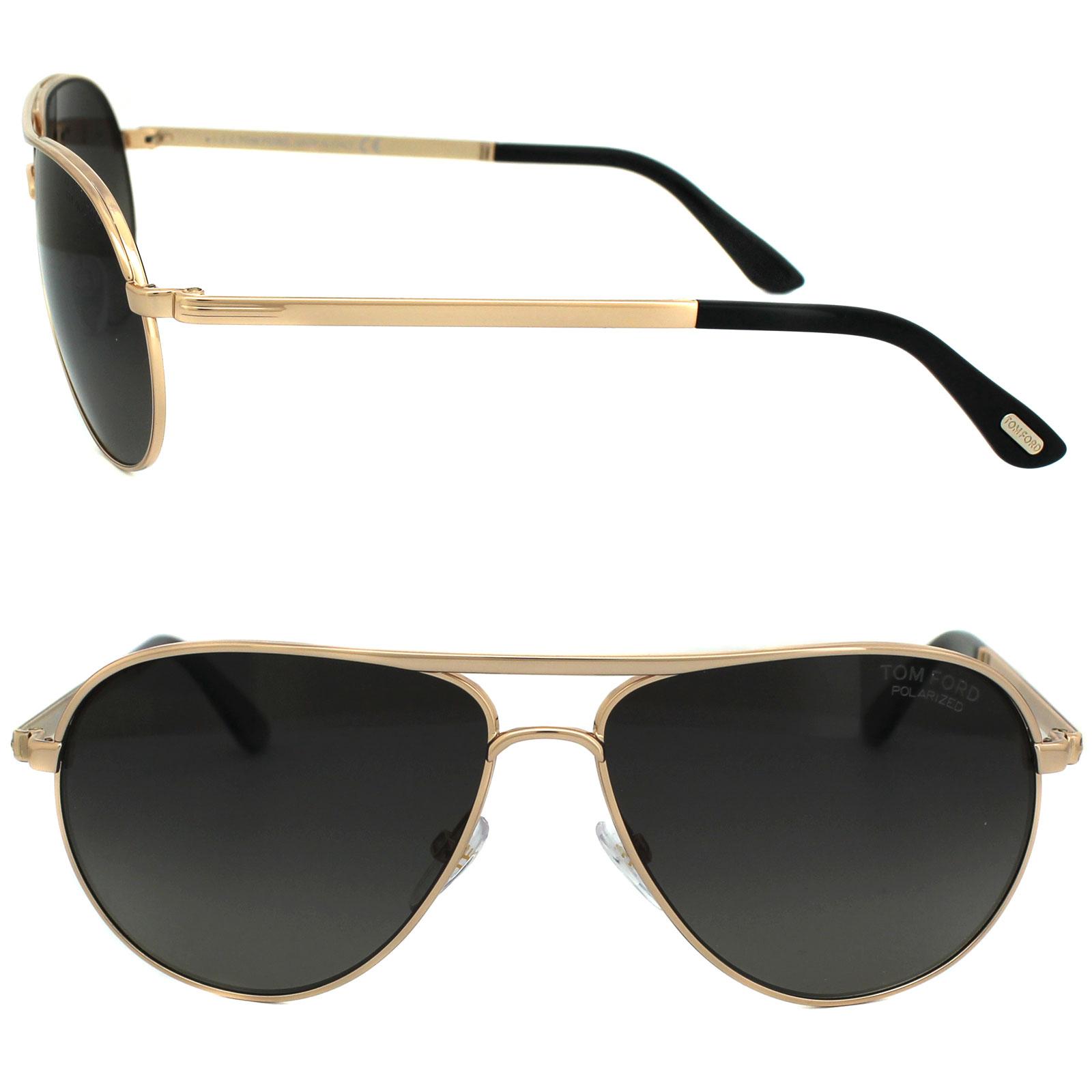 60a9047fca4 Sentinel Tom Ford Sunglasses 0144 Marko 28D Shiny Rose Gold Smoke Grey  Polarized