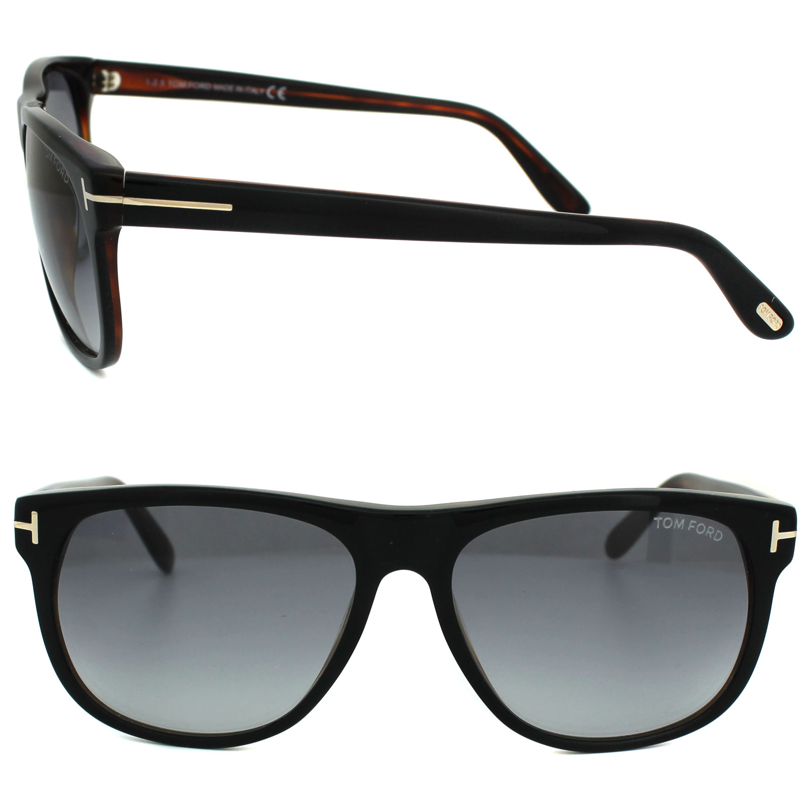 ba77327bdca Sentinel Tom Ford Sunglasses 0236 Olivier 05B Black   Brown Smoke Grey  Gradient