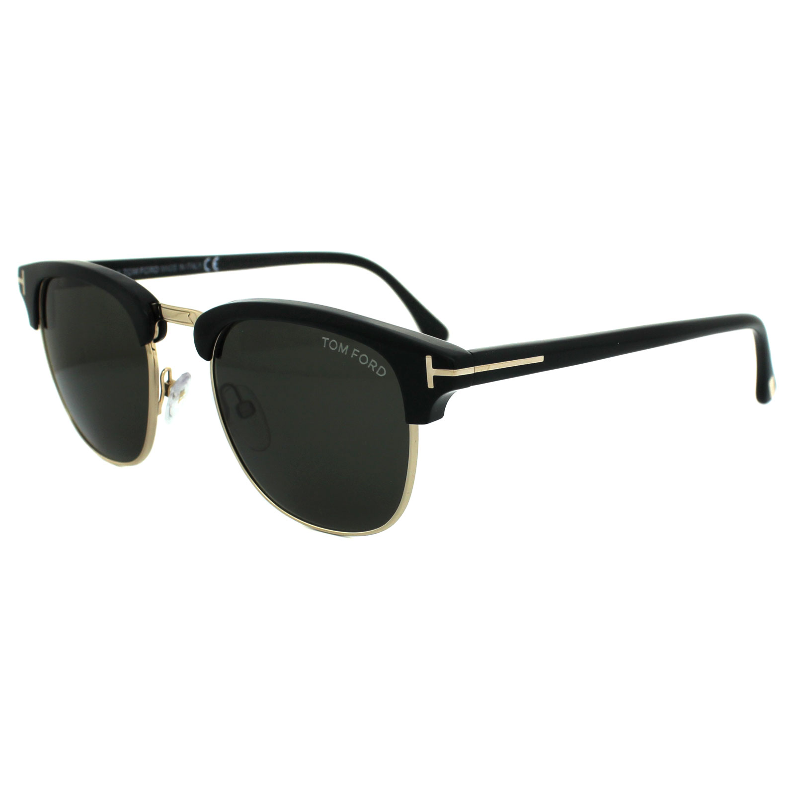 e6a9a5fc2d2ac Tom Ford Sunglasses 0248 Henry 05N Black   Gold Green 664689523986 ...