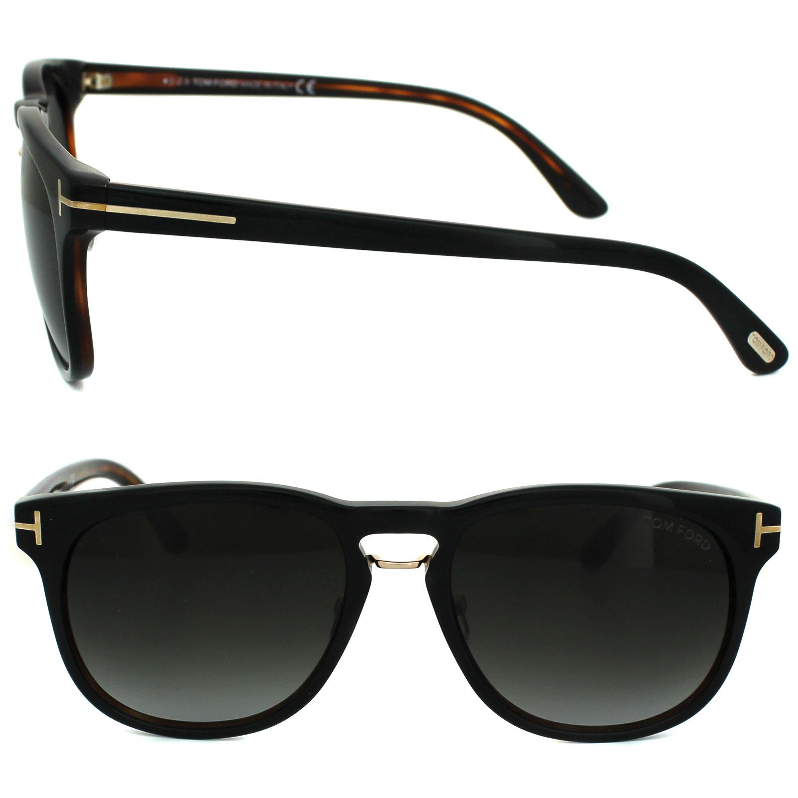 Tom Ford Sunglasses 0346 Franklin 01V Shiny Black Blue