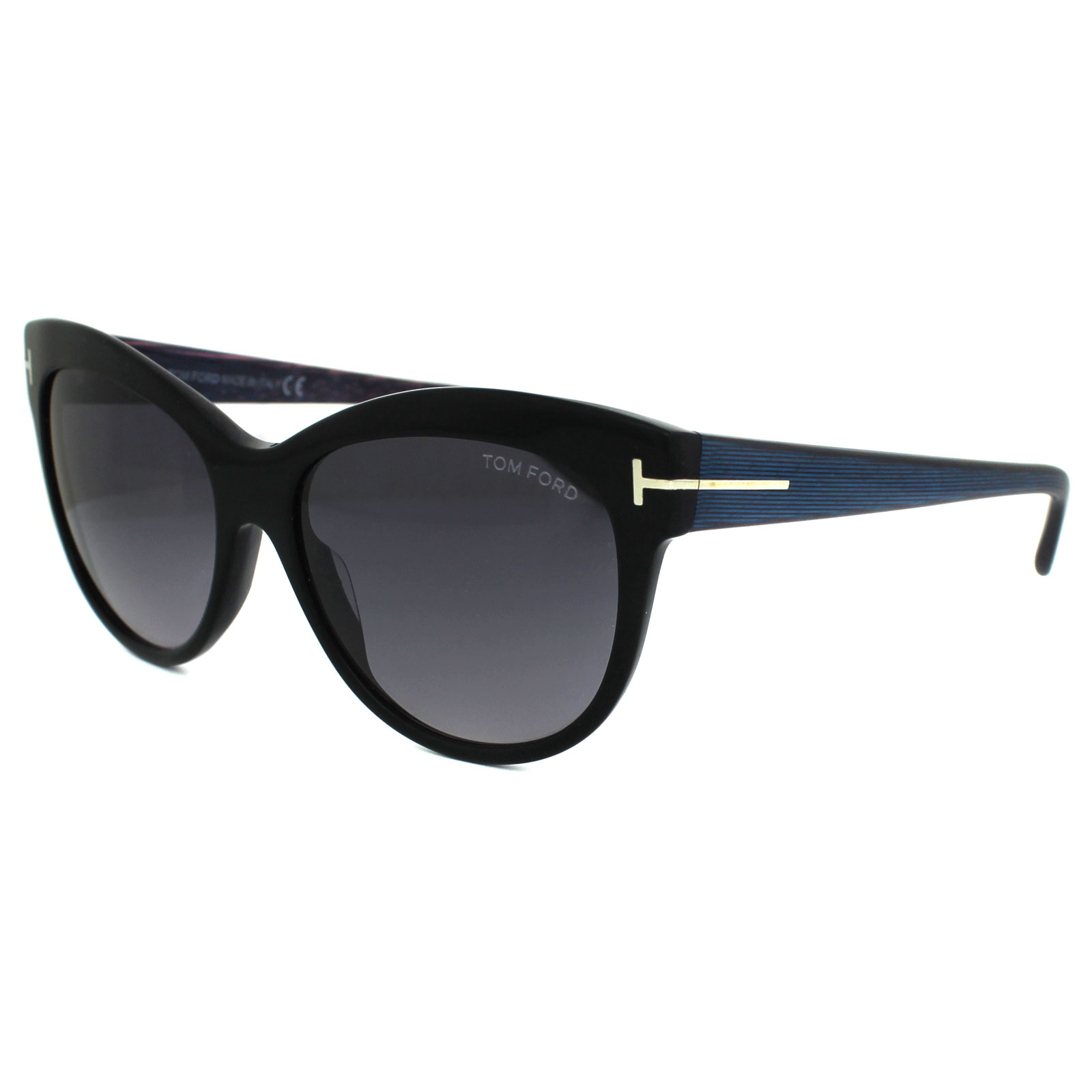 a7831dd39614 Details about Tom Ford Sunglasses 0430 Lily 05B Black   Peteroleum Smoke  Grey Gradient