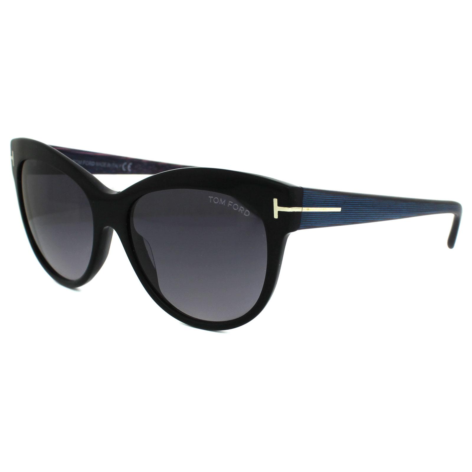 Tom Ford Damen Sonnenbrille »Lily FT0430«, schwarz, 05B - schwarz/grau
