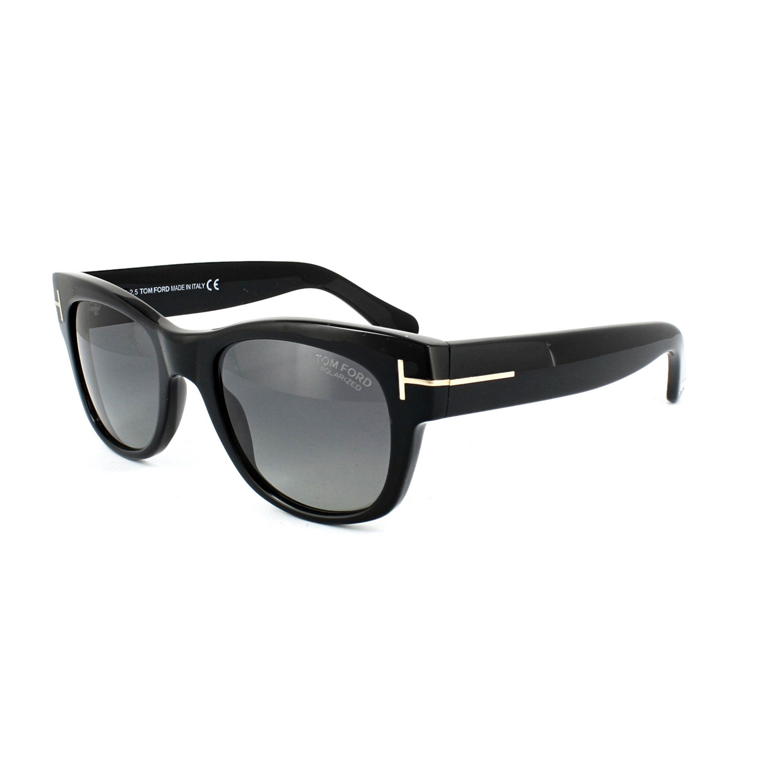 e84a5c73e0c9 Sentinel Tom Ford Sunglasses 0058 CARY 01D Shiny Black Smoke Grey Polarized