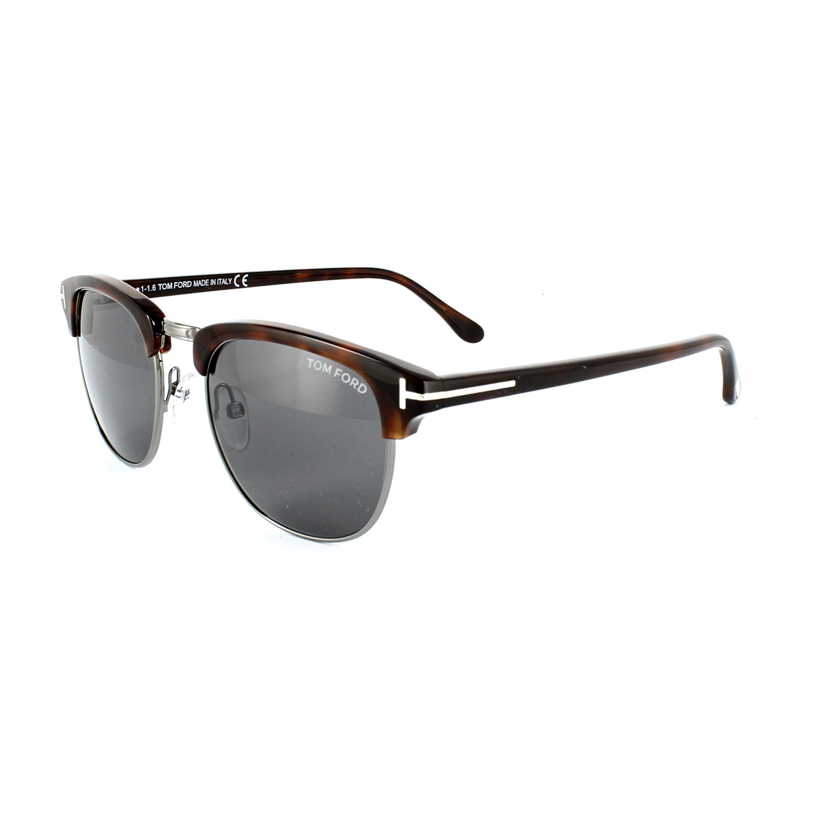 206a0ec2eae71 Sentinel Tom Ford Sunglasses 0248 HENRY 52A Dark Havana Smoke Grey