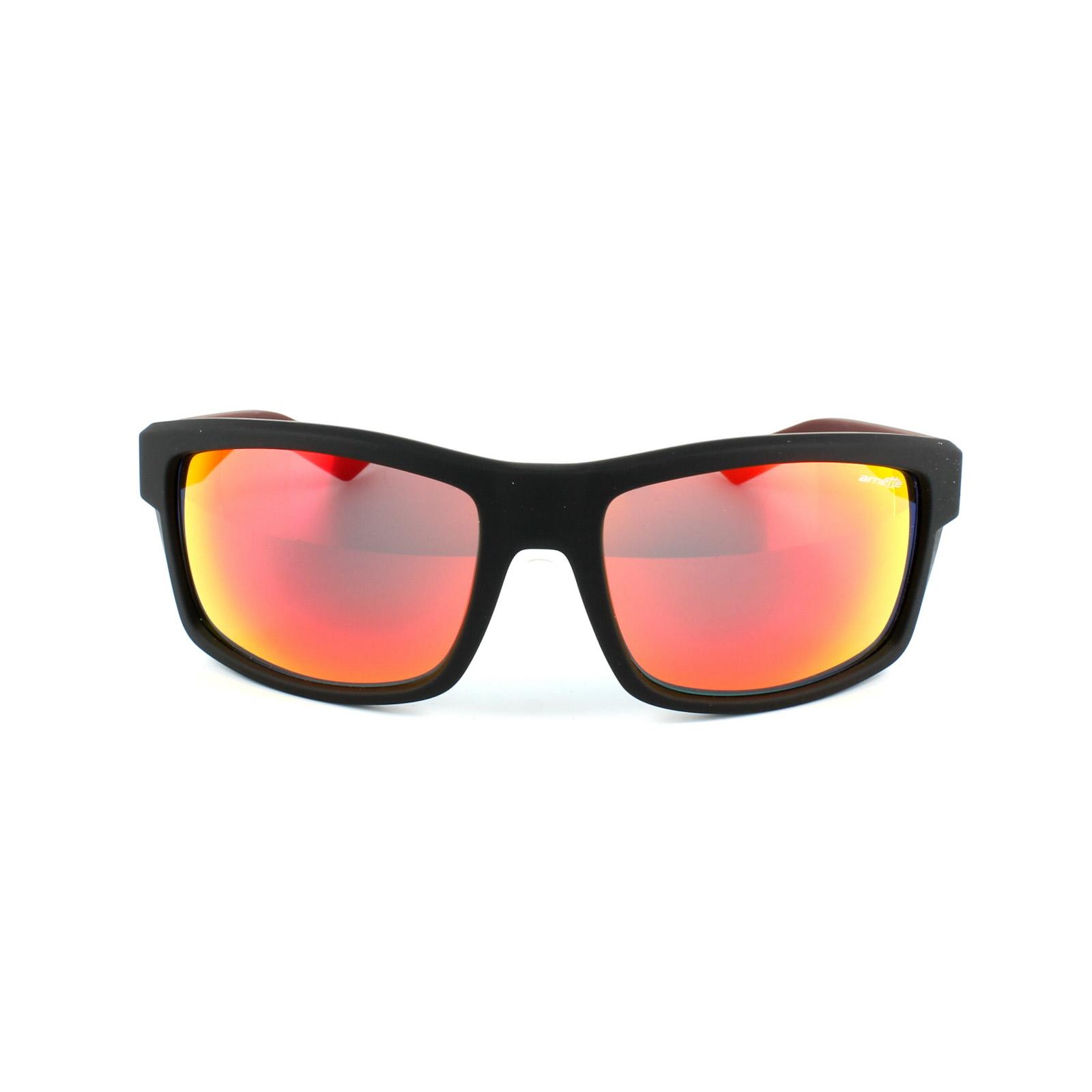 3bb6aced12e Sentinel Arnette Sunglasses 4216 Corner Man 23266Q Black   Burgundy Red  Mirror