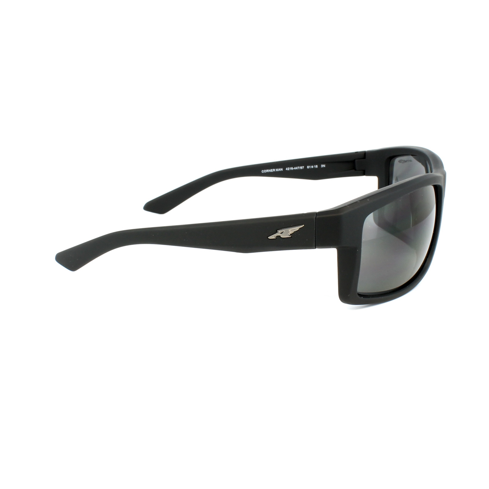 29fbdb43e4 Sentinel Arnette Sunglasses 4216 Corner Man 447 87 Black Dark Grey