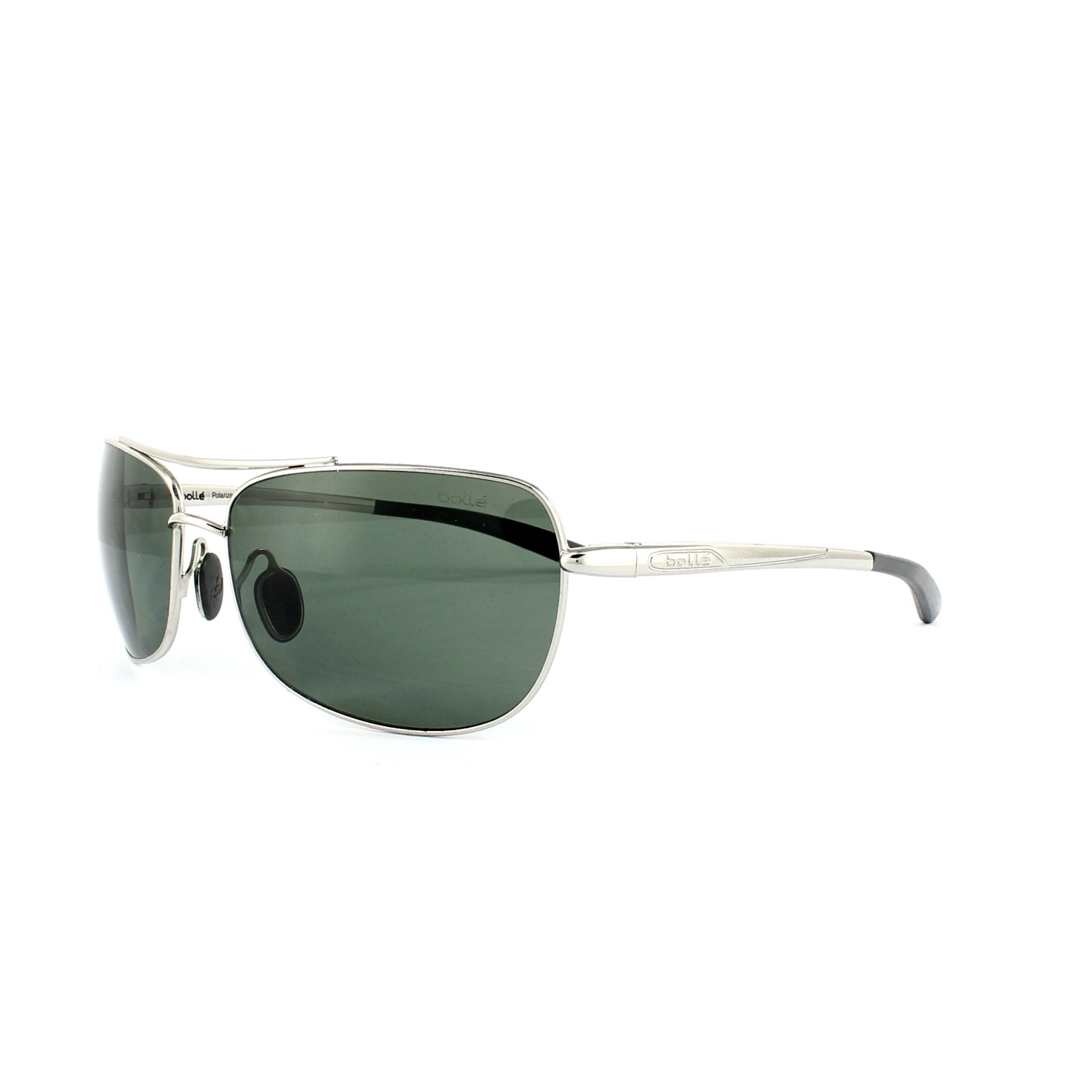 36fe1df06a Sentinel Bolle Sunglasses Quindaro 11576 Shiny Silver Axis Grey Green  Polarized