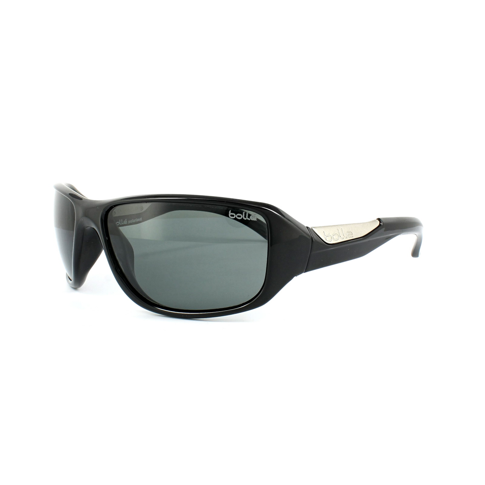 963f116f43c Sentinel Bolle Sunglasses Smart 11642 Shiny Black TNS Grey Polarized