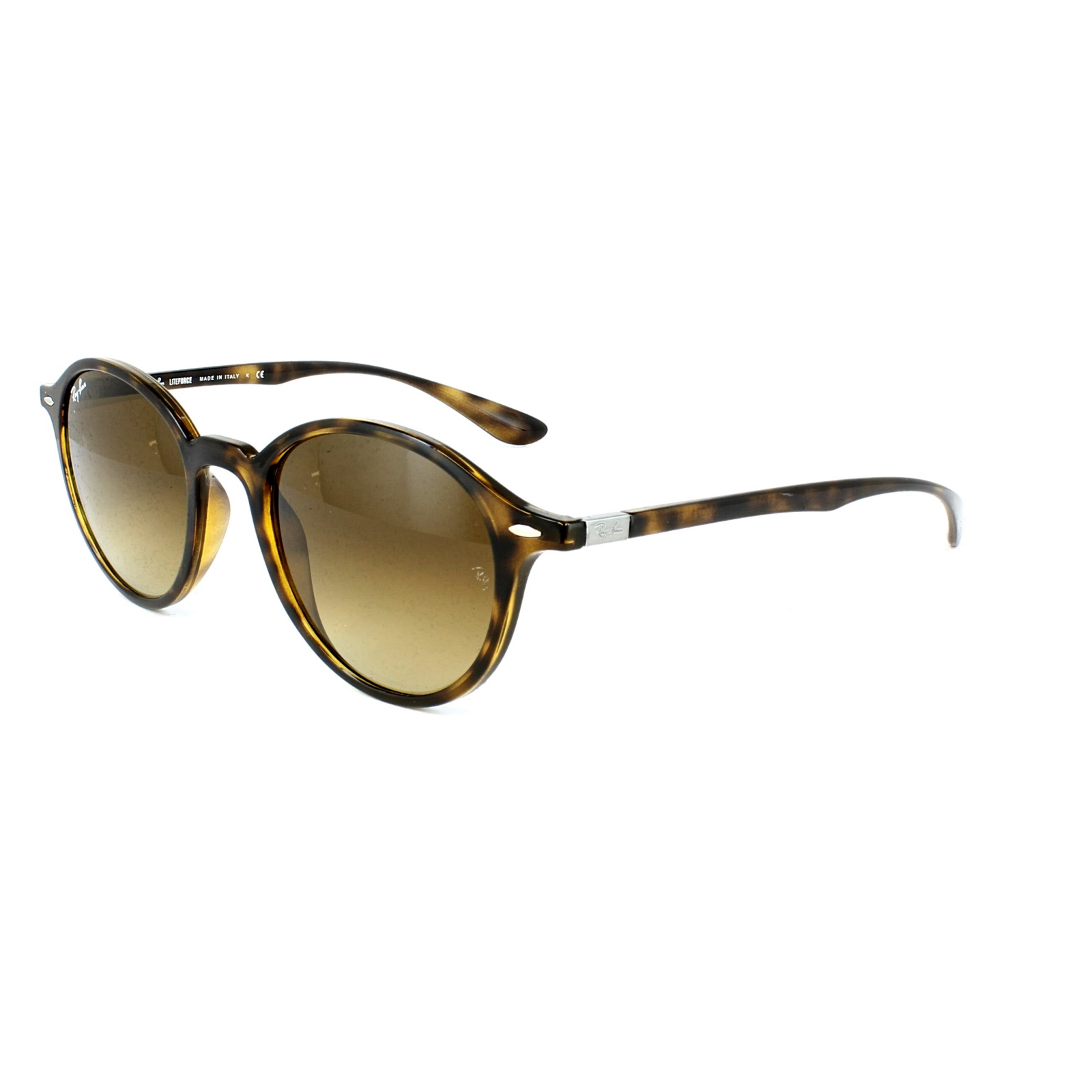 10732780a6c Sentinel Ray-Ban Sunglasses Round Liteforce 4237 710 85 Tortoise Brown  Gradient