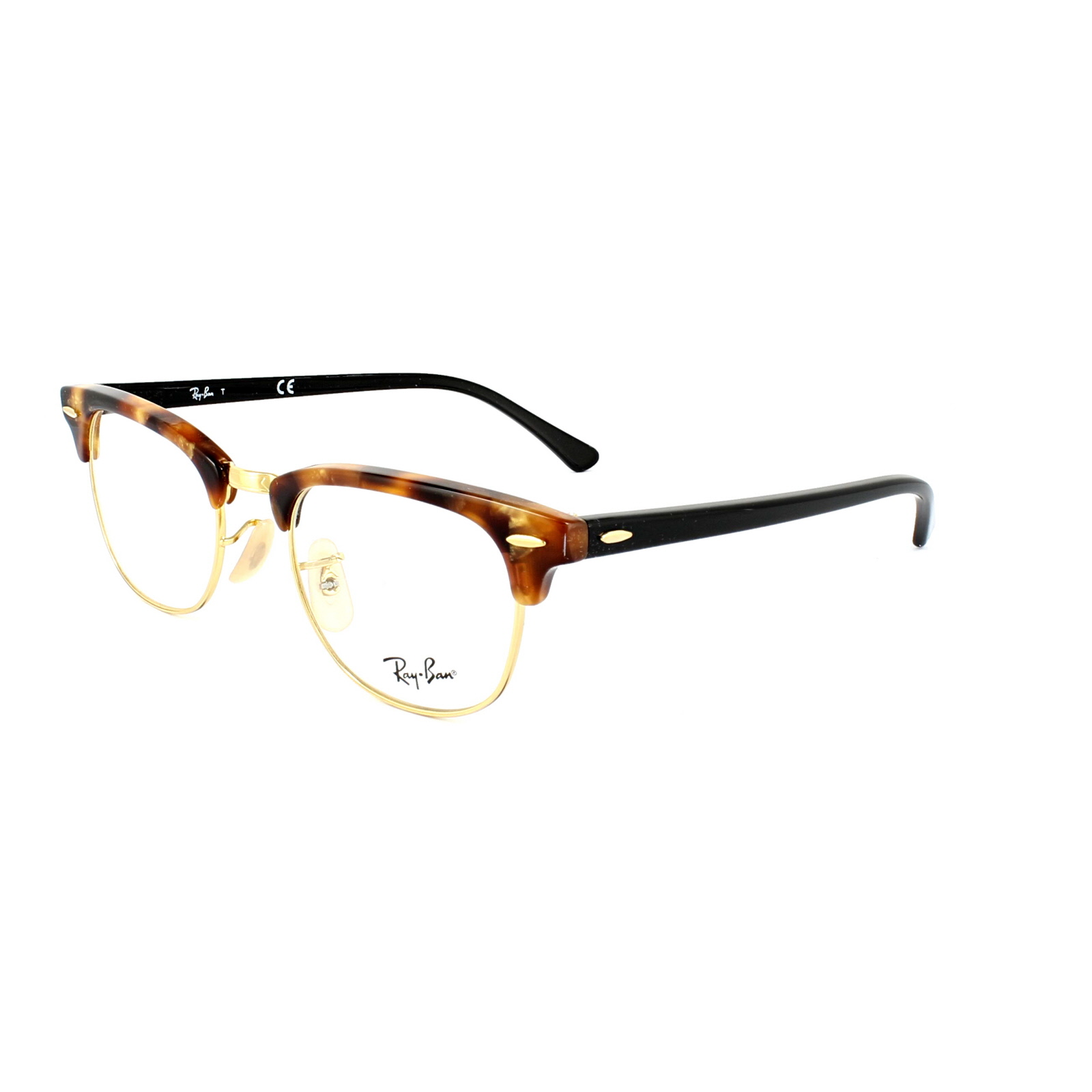 46abe2ba7 Sentinel Ray-Ban Glasses Frames 5154 Clubmaster 5494 Fleck Brown Havana 49mm