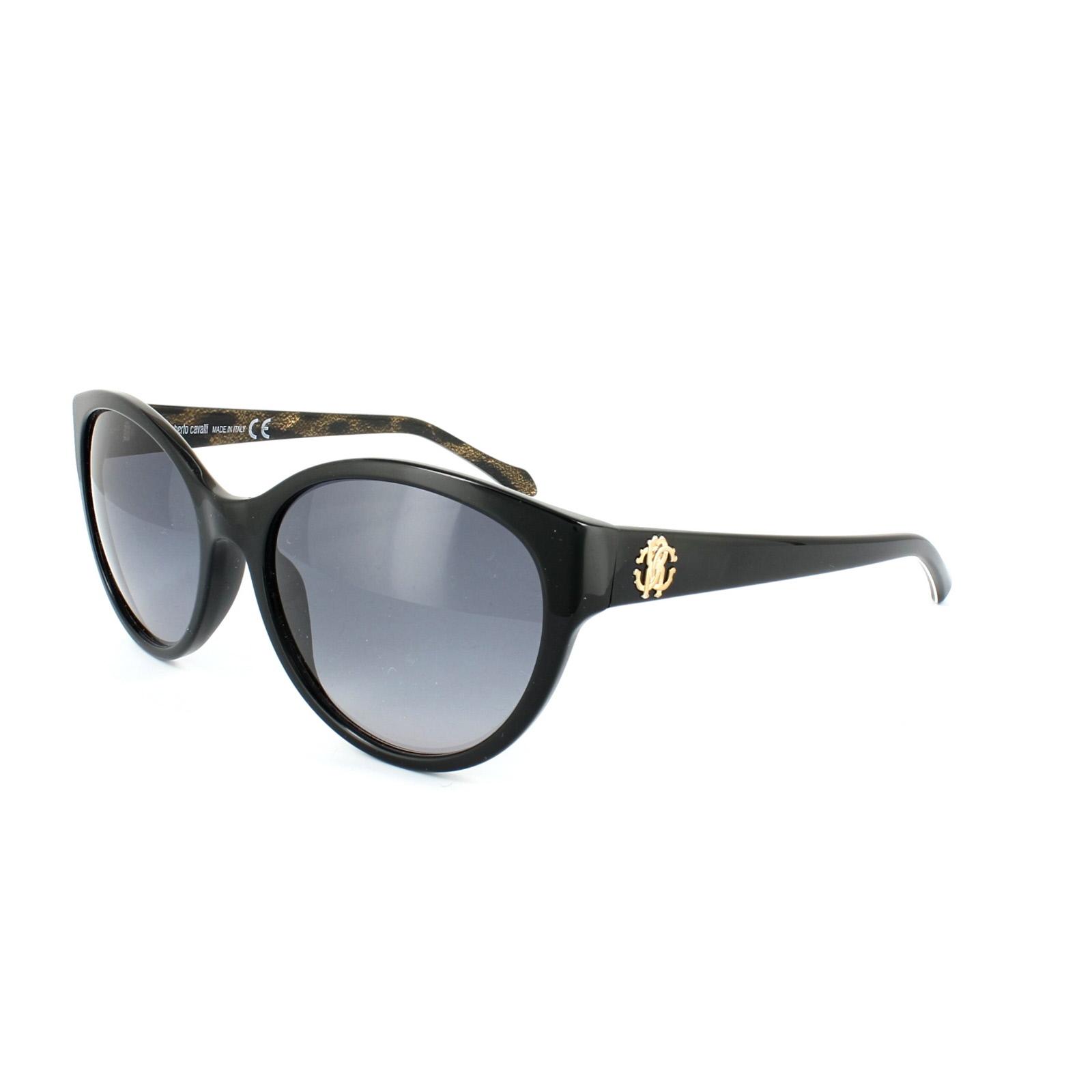 1914e79a40 CENTINELA Roberto Cavalli gafas de sol 05B Alrischa 824 degradado brillante  negro gris
