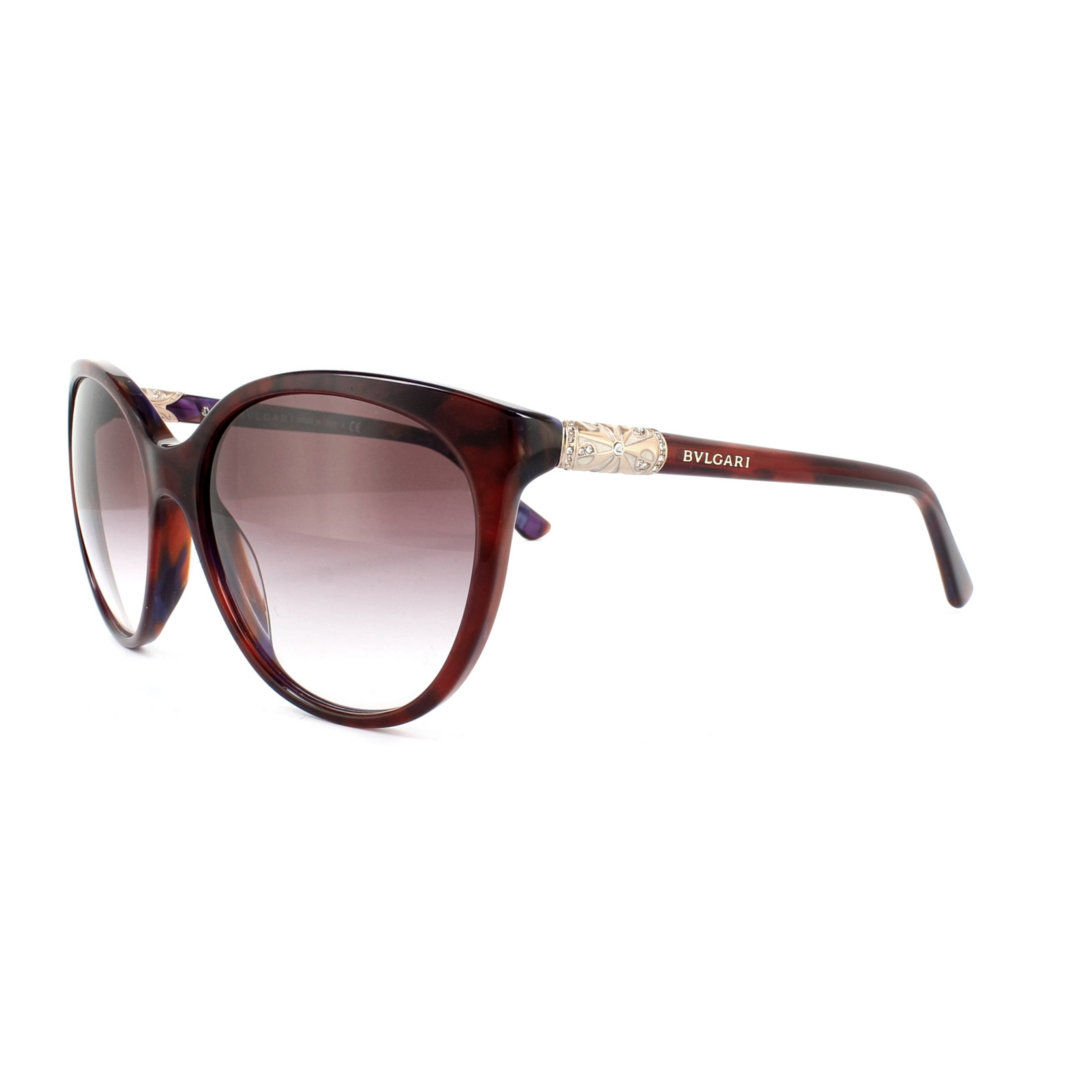 5080bf8234347 Sentinel Bvlgari Sunglasses 8147B 52708H Top Red on Marble Violet Violet  Gradient