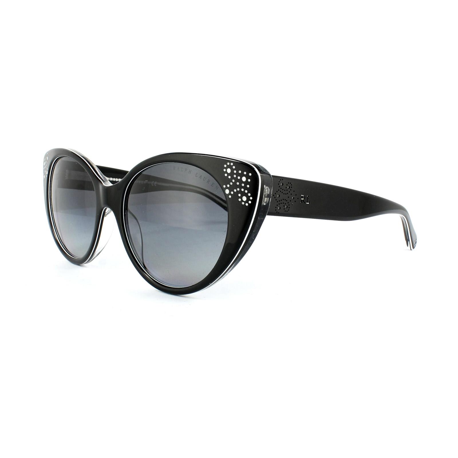 d9a7e4730d1bc Sentinel Ralph Lauren Sunglasses 8110 5448T3 Black White Grey Gradient  Polarized