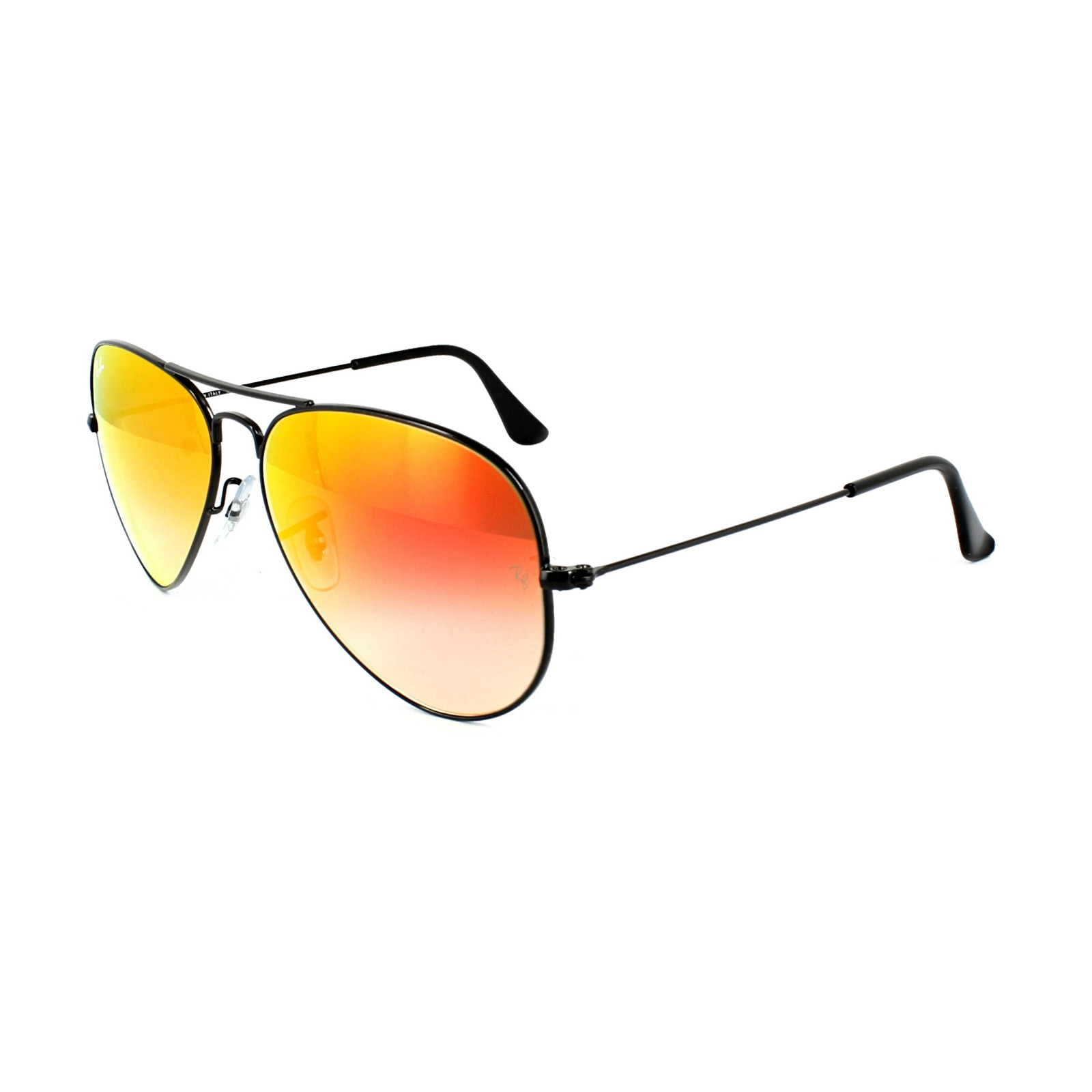 cea992682d4 Details about Ray-Ban Sunglasses Aviator 3025 002 4W Black Orange Gradient  Flash Mirror M
