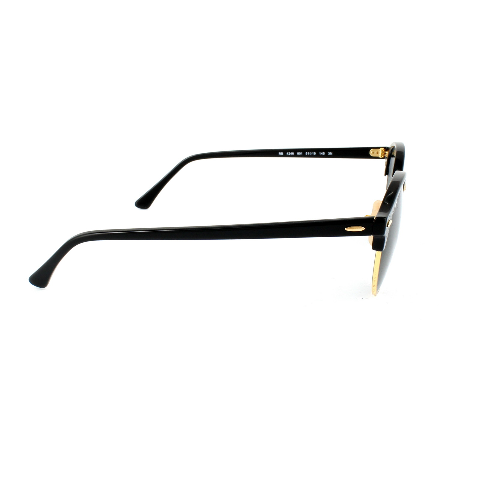 1d76475b88 Sentinel Ray-Ban Sunglasses Clubround 4246 901 Black   Gold Green