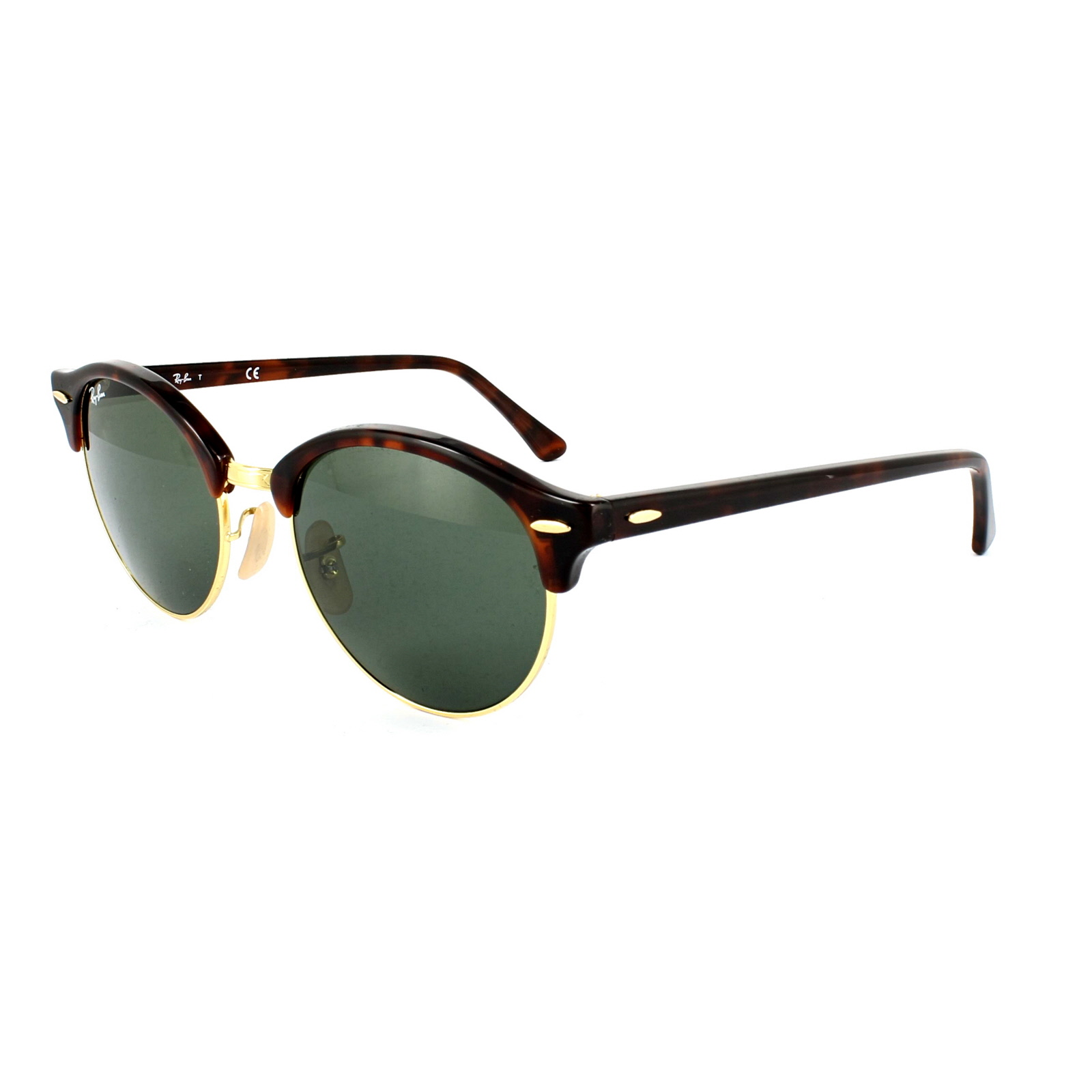77b9412f60506 Sentinel Ray-Ban Sunglasses Clubround 4246 990 Red Havana   Gold Green