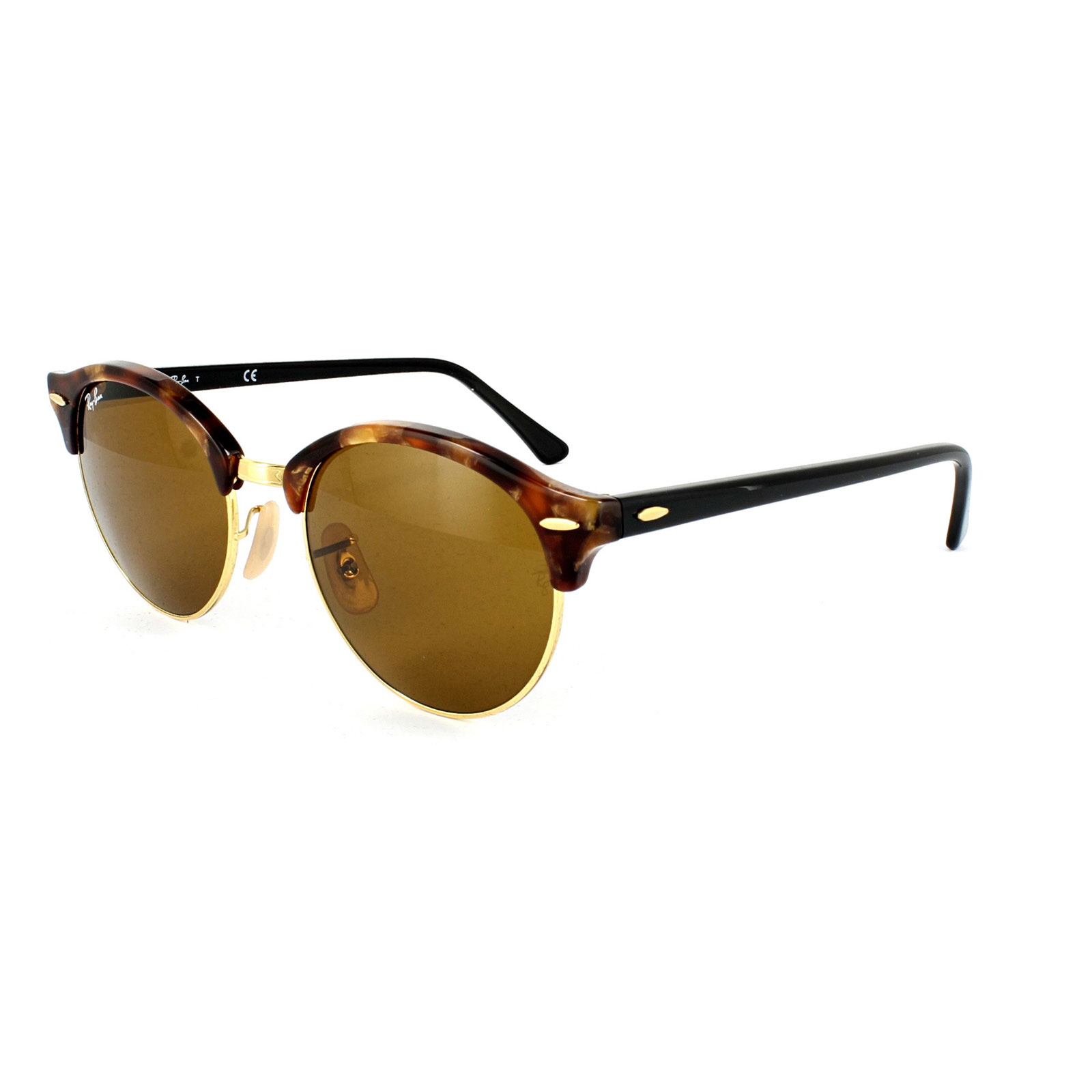 b58945ca81d Sentinel Ray-Ban Sunglasses Clubround 4246 1160 Spotted Brown Havana   Gold  Brown