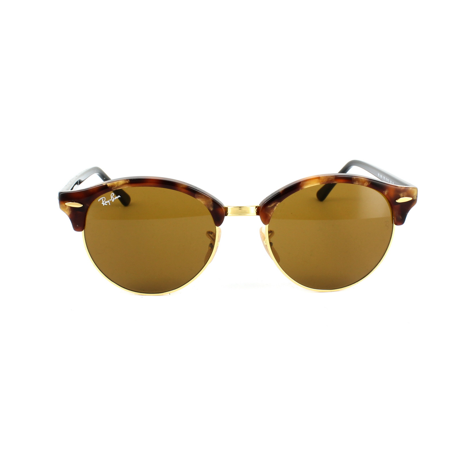 78c4bc6c93e Details about Ray-Ban Sunglasses Clubround 4246 1160 Spotted Brown Havana    Gold Brown