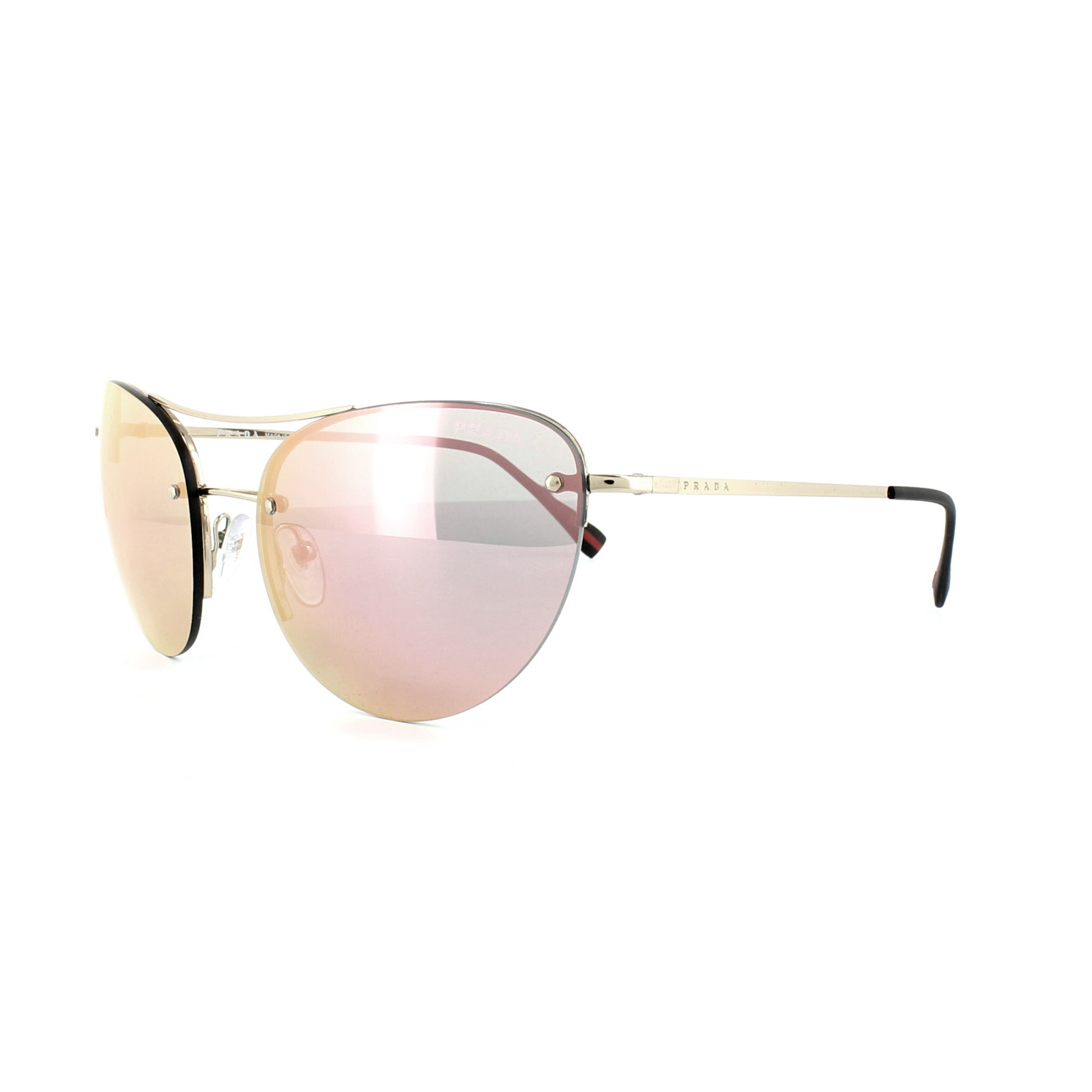 722660dd2f Sentinel Prada Sport Sunglasses 51RS ZVN5L2 Pale Gold Rose Gold Mirror