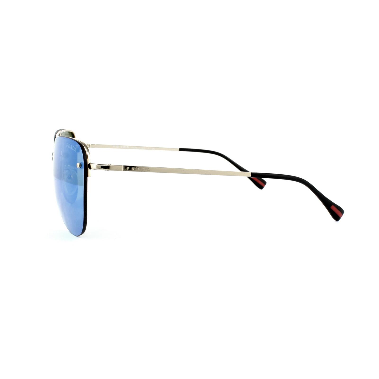 f3a0a7347702 Sentinel Prada Sport Sunglasses 53RS ZVN5M2 Pale Gold Blue Mirror