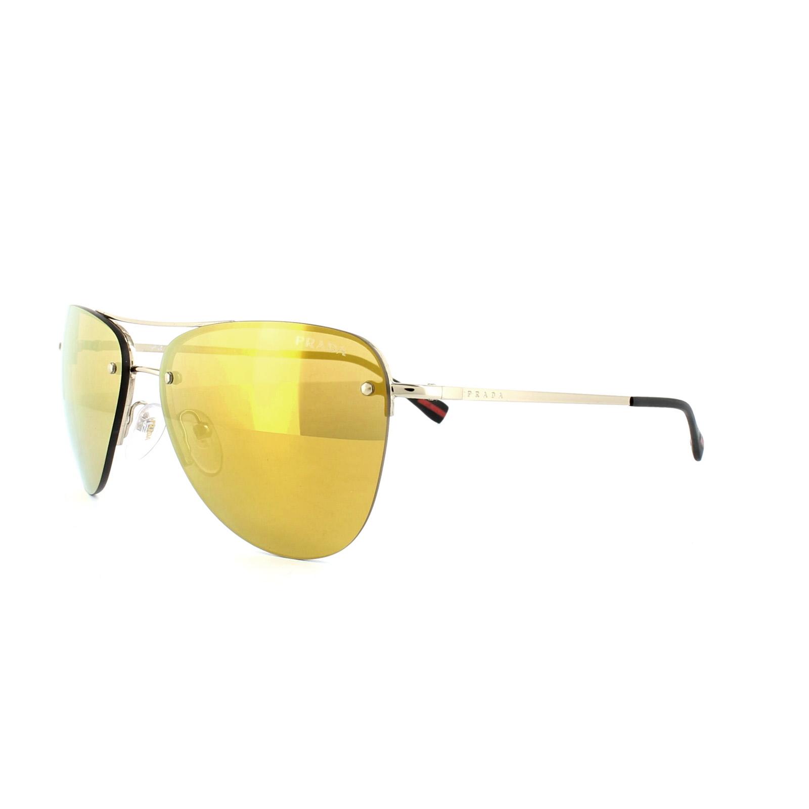 ac7671ce29ef Sentinel Prada Sport Sunglasses 53RS ZVN5N0 Pale Gold Gold Mirror