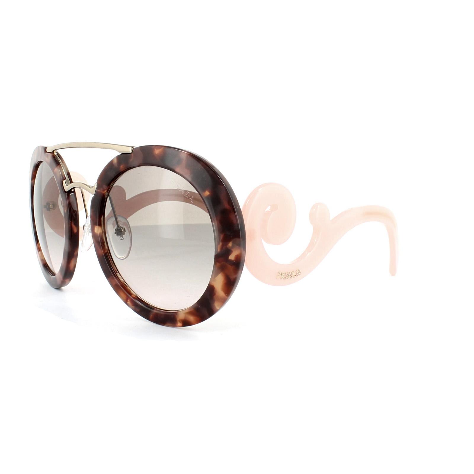 4c9a053d4af3 Sentinel Prada Sunglasses 13SS UE04K0 Spotted Brown Gold Pink Pink Grey  Gradient