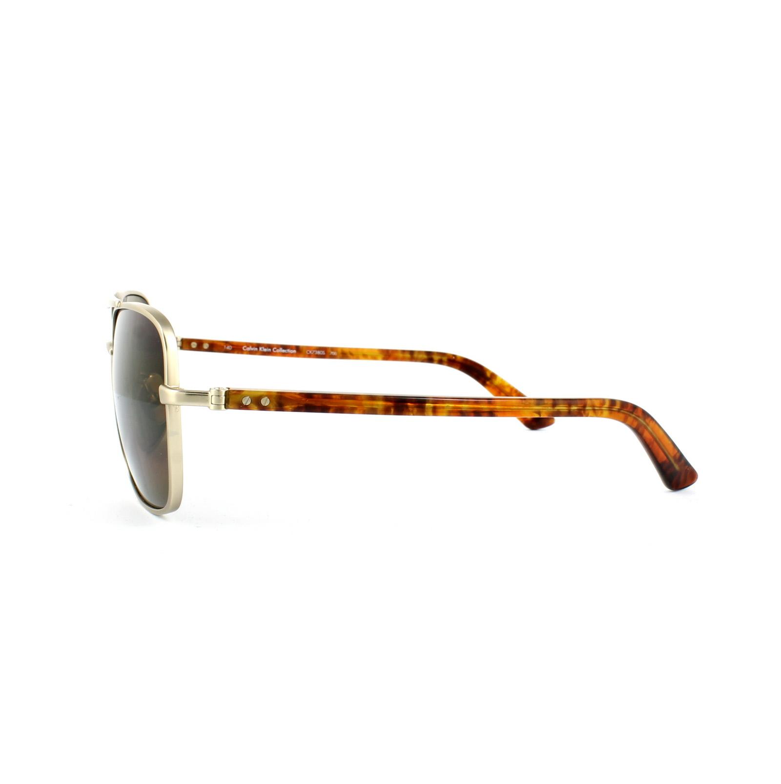 80fa765ac1d Calvin Klein Sunglasses CK7380 700 Japanese Gold Brown 750779070758 ...