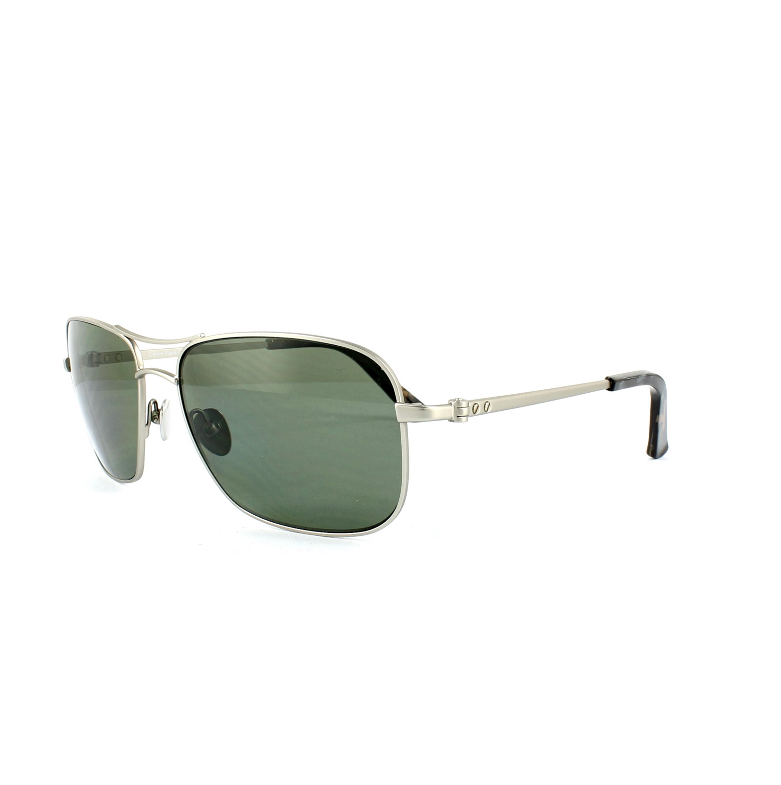 87a936f8d6 Sentinel Calvin Klein Sunglasses CK7497SP 045 Silver Grey Green Polarized