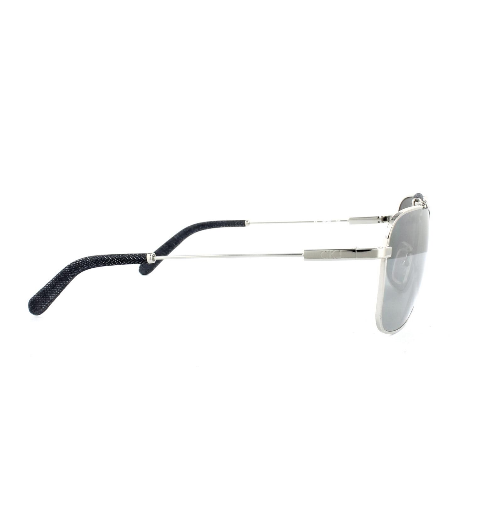 9e99035ffcc Sentinel Calvin Klein Jeans Sunglasses CKJ113S 011 Silver Grey Silver Mirror