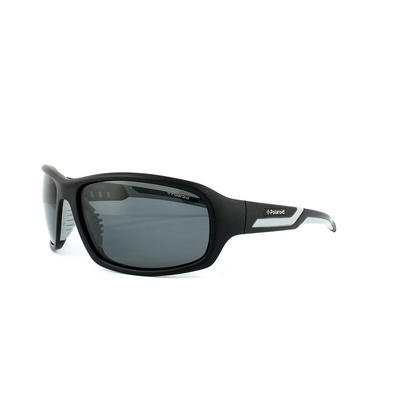 Polaroid Sport Sunglasses P7406 08A Y2 Black & Grey Grey Polarized